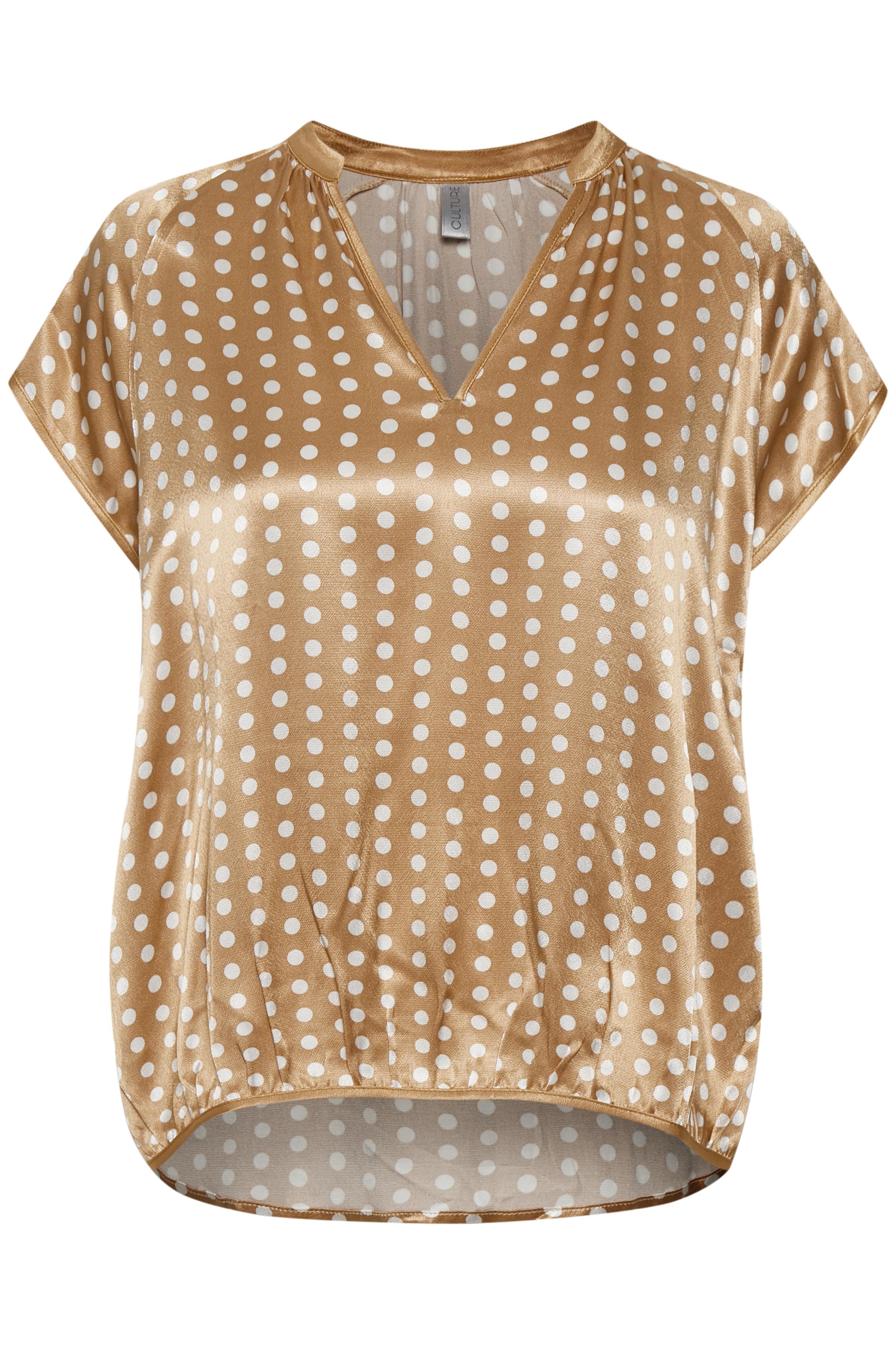 Almond Kortærmet bluse fra Culture – Køb Almond Kortærmet bluse fra str. XS-XXL her