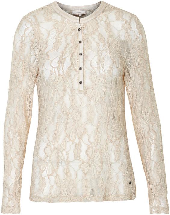 Image of Cream Dame Langærmet T-shirt - Antik hvid