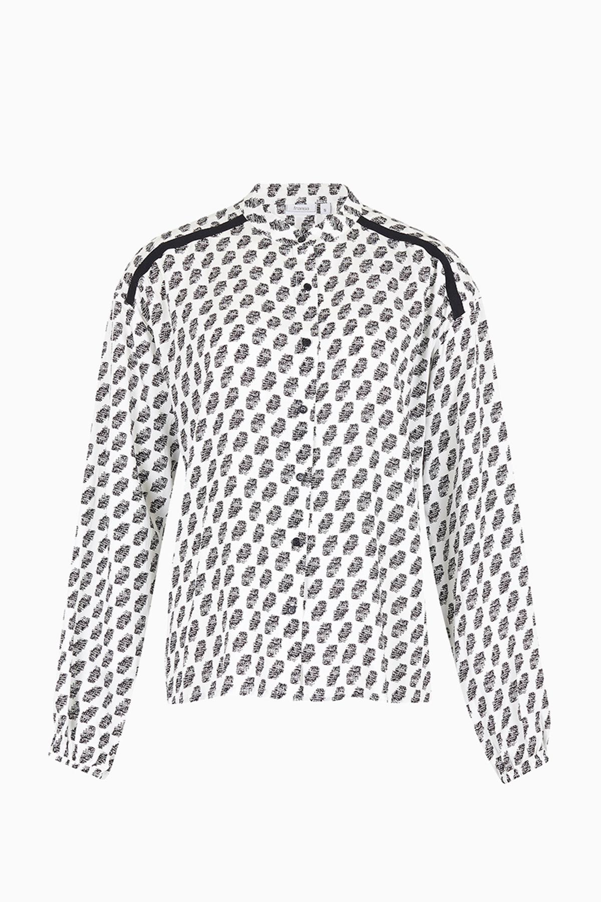 Image of Fransa Dame Langærmet skjorte - Antique mix