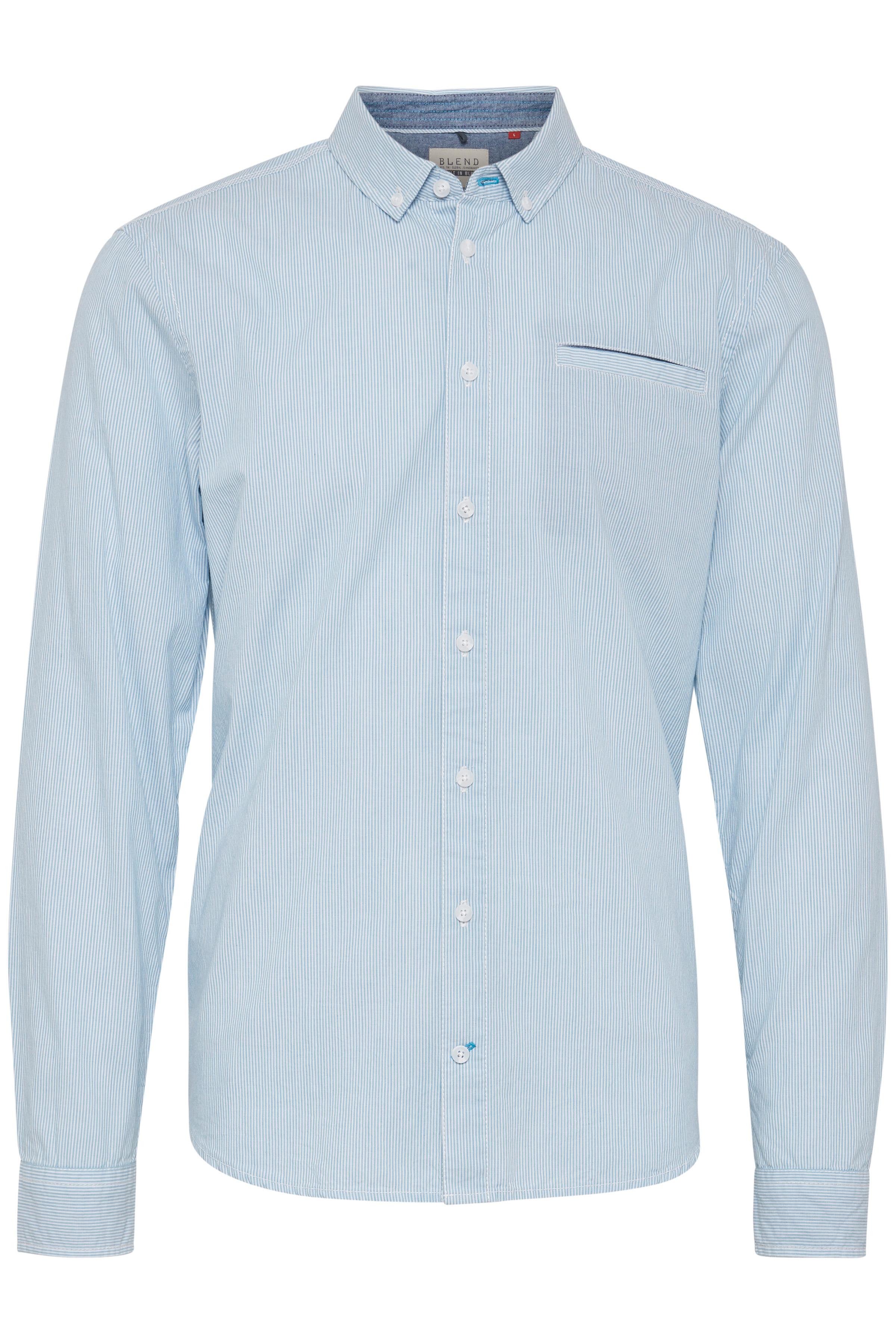 Image of Blend He Herre Langærmet skjorte - Aqua Blue