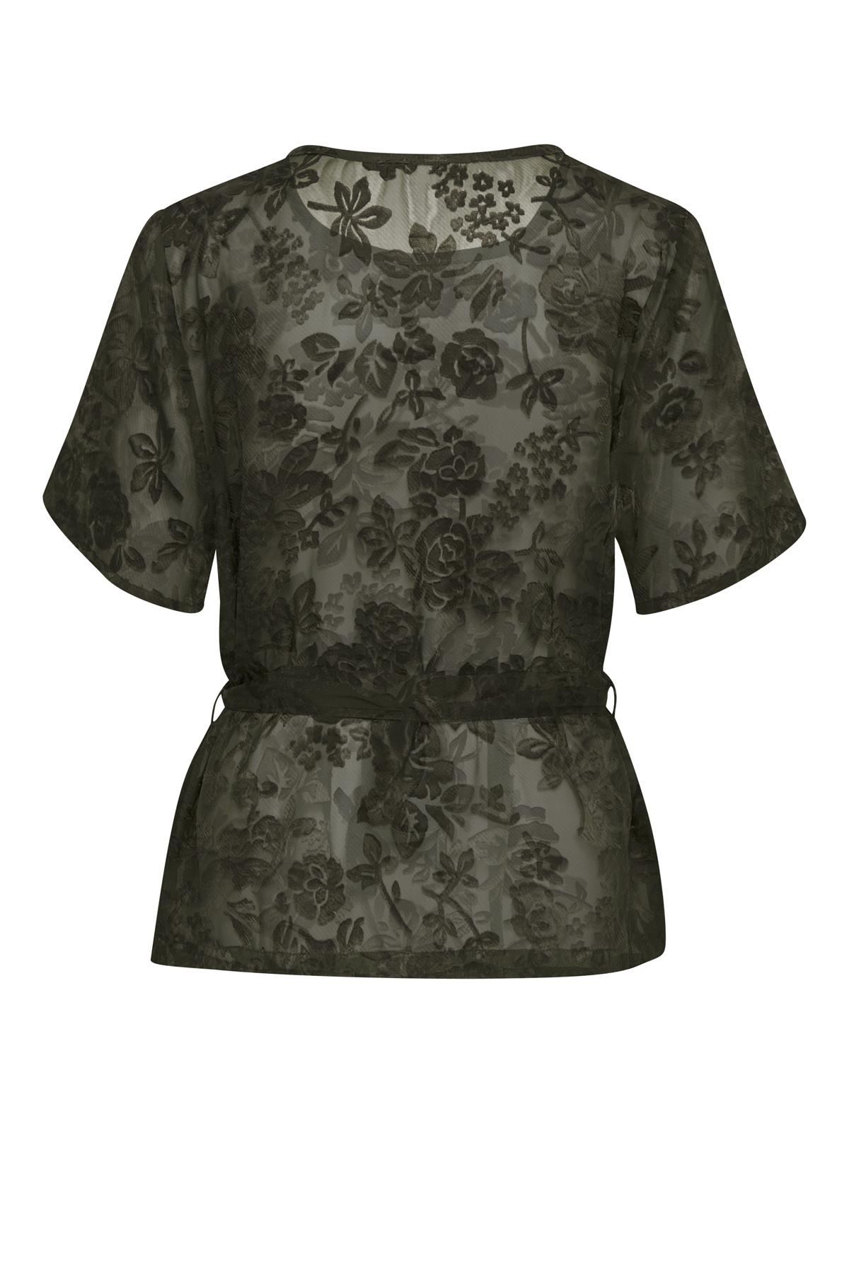 Army Kortærmet bluse fra Bon'A Parte – Køb Army Kortærmet bluse fra str. S-2XL her