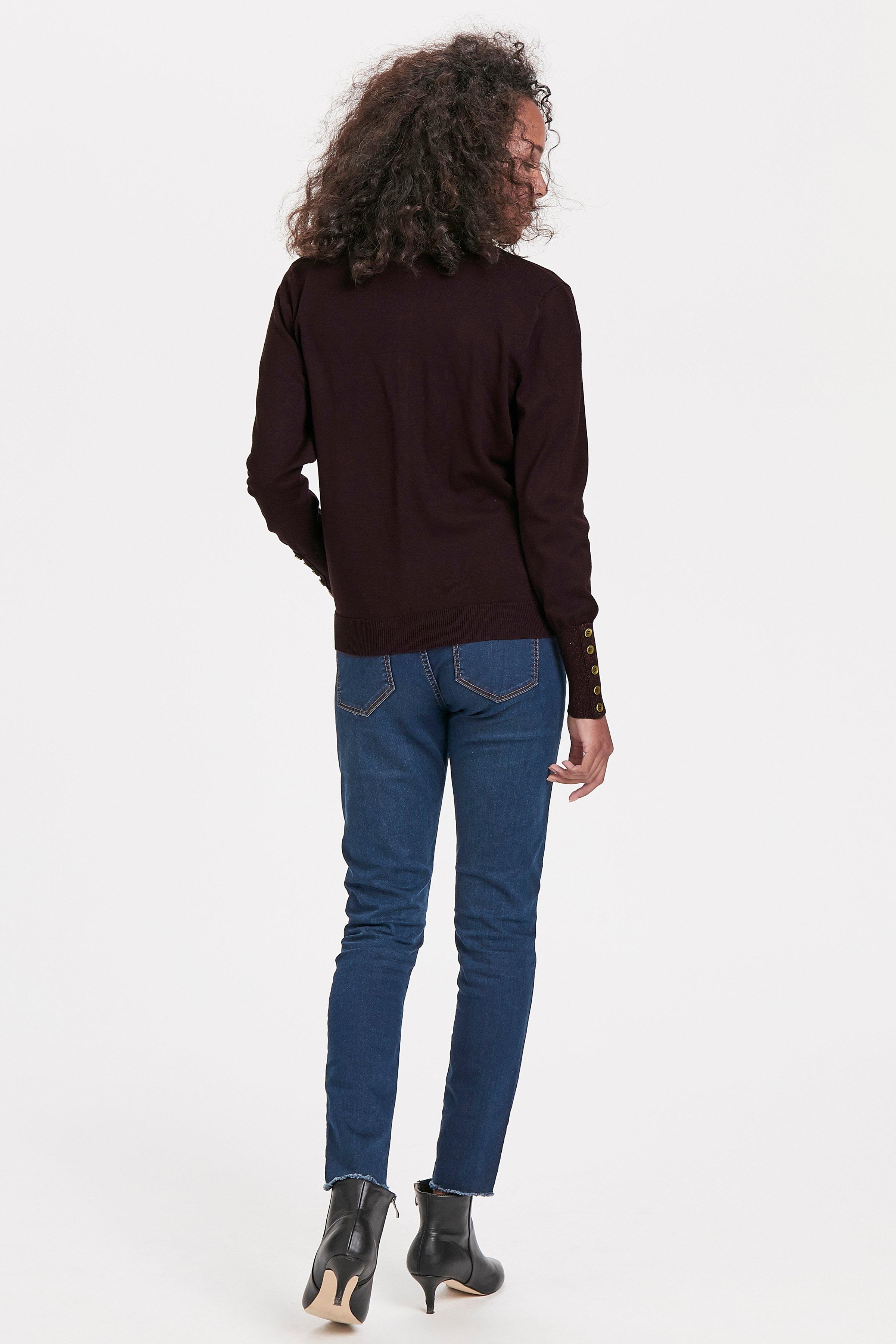 Aubergine Strick-Cardigan von Bon'A Parte – Shoppen Sie Aubergine Strick-Cardigan ab Gr. S-2XL hier