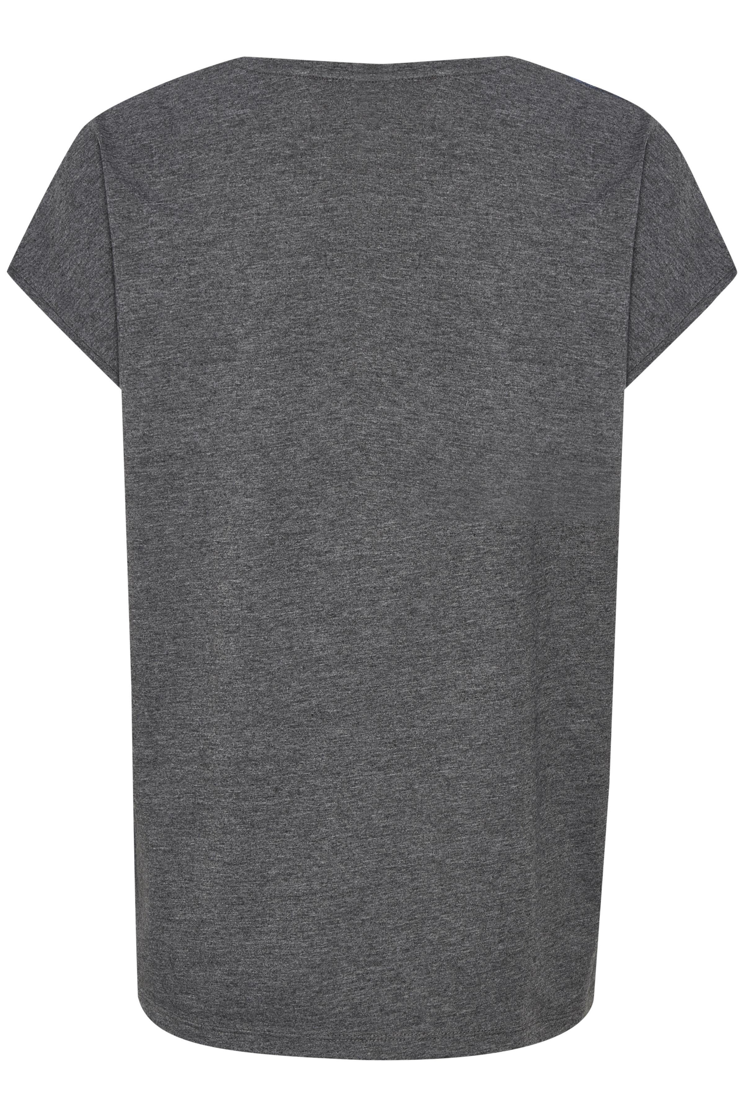 Blå/grå Kortärmad blus från Bon'A Parte – Köp Blå/grå Kortärmad blus från stl. S-2XL här