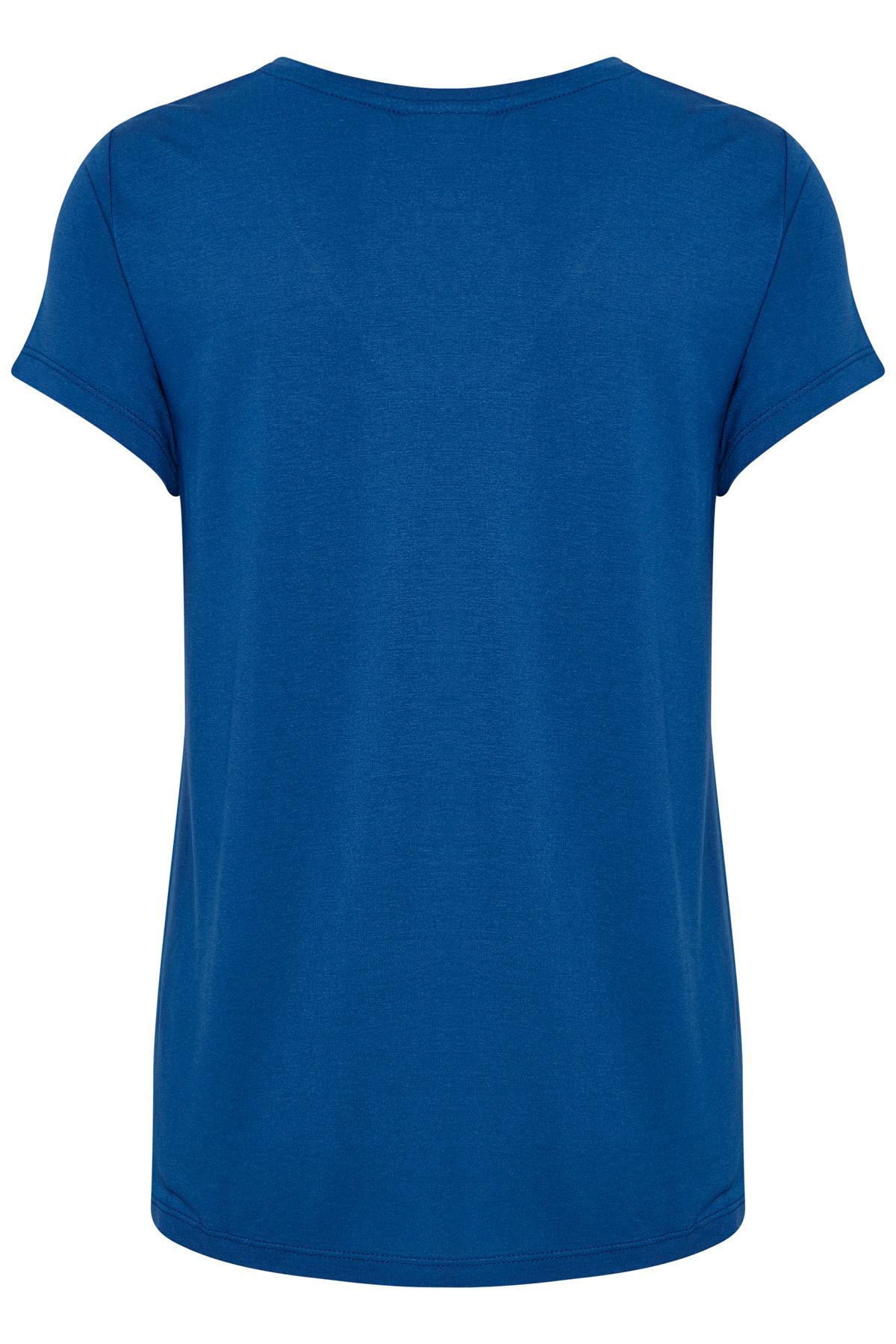 Blå Kortärmad T-shirt från Kaffe – Köp Blå Kortärmad T-shirt från stl. XS-XXL här