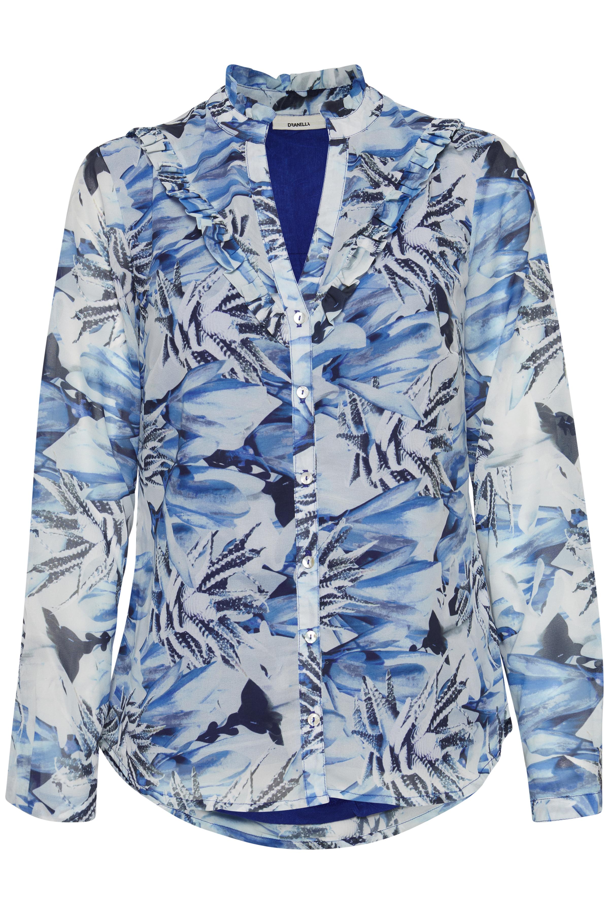 Image of Dranella Dame Dekorativ Mopeya bluse - Blå