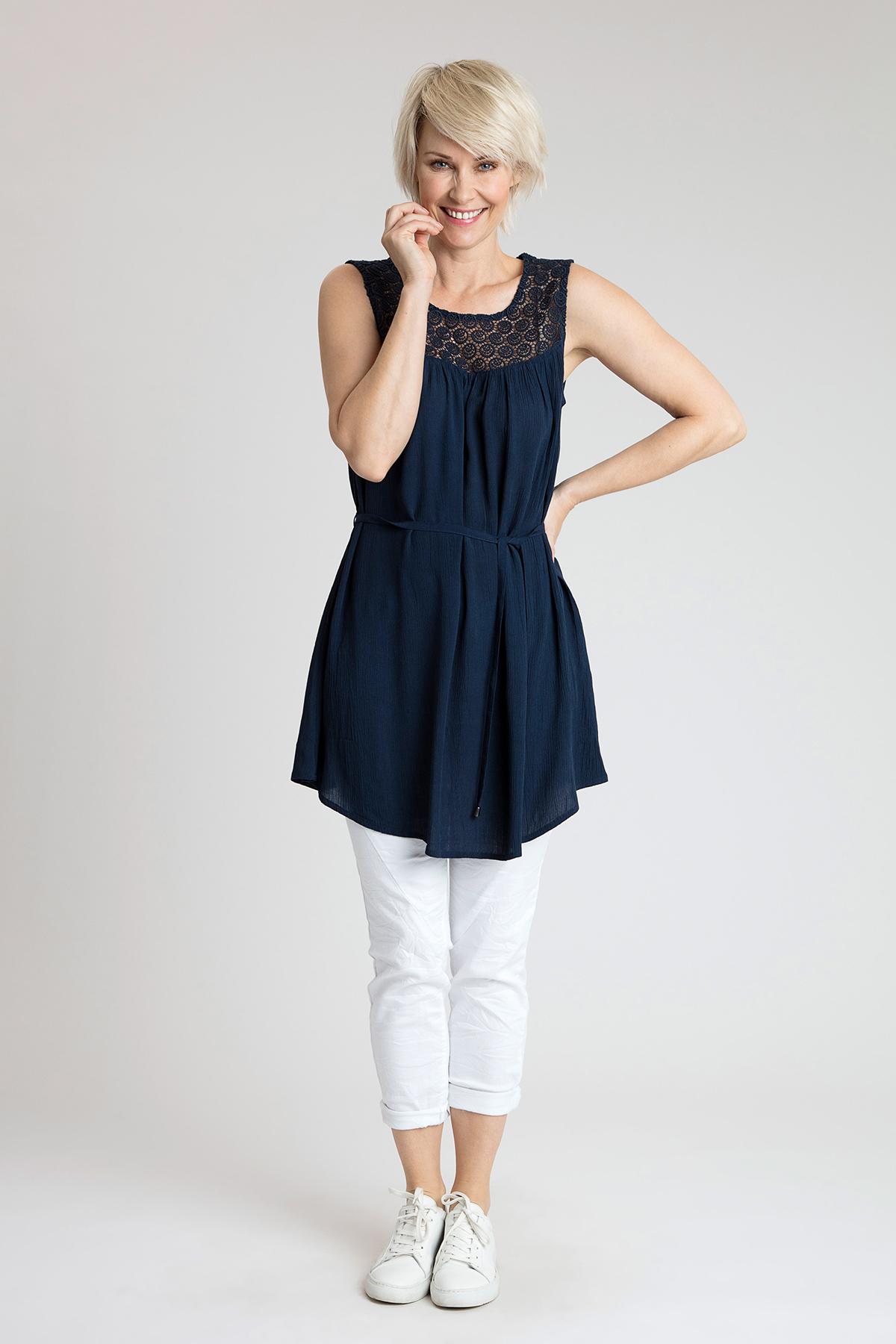 Blå Tunika fra Bon'A Parte – Køb Blå Tunika fra str. S-2XL her