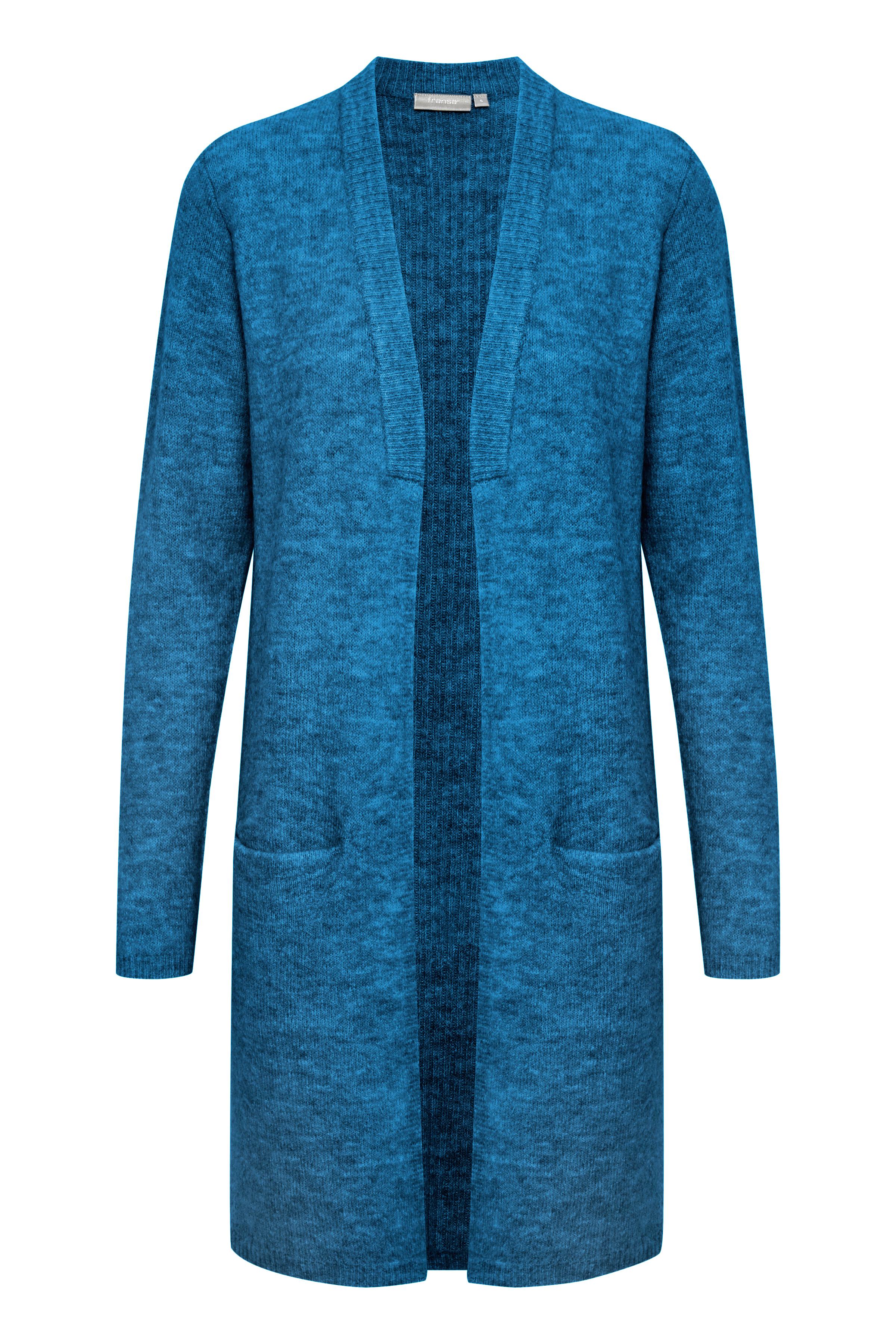 Blåmeleret Cardigan fra Fransa – Køb Blåmeleret Cardigan fra str. XS-XXL her