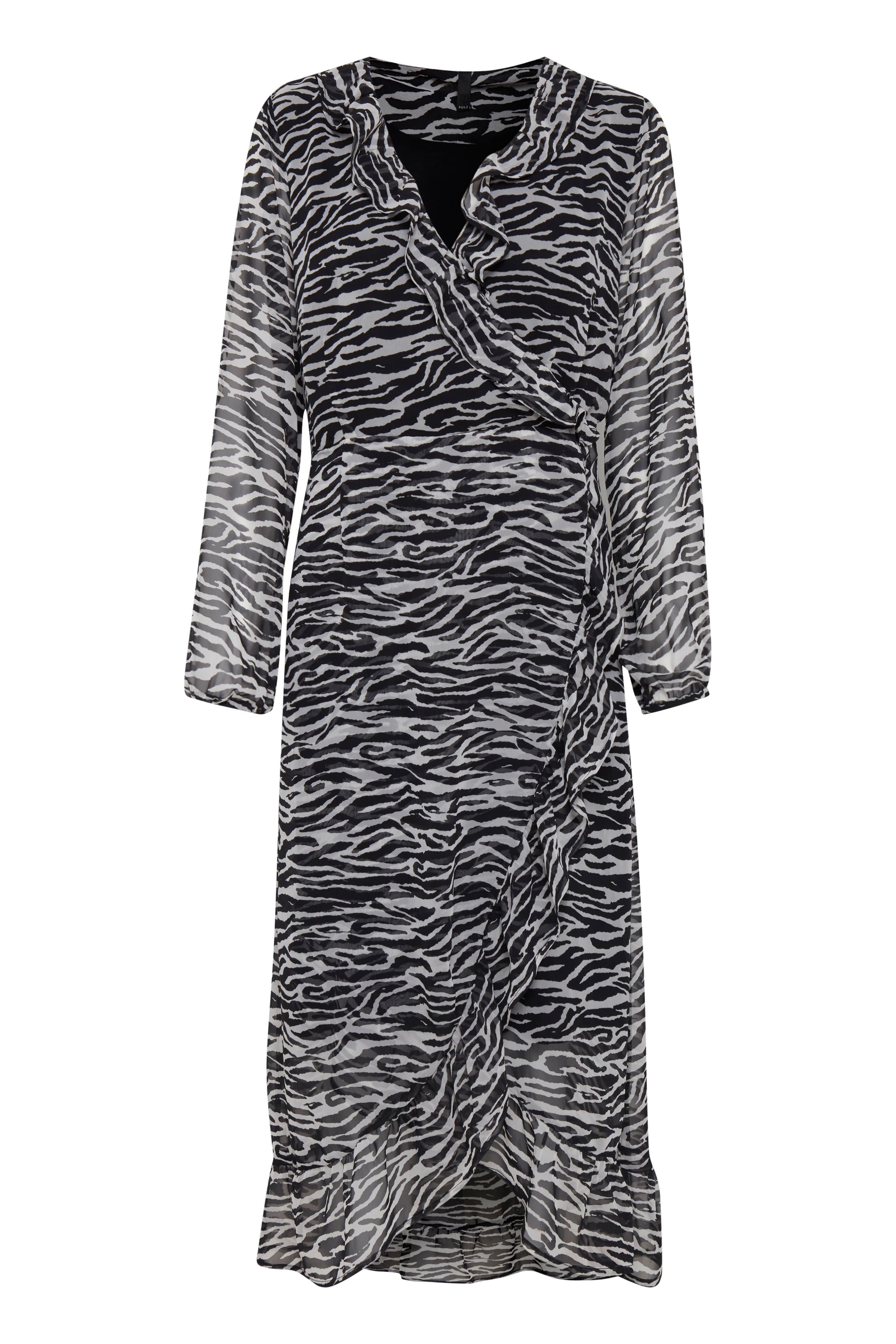 Pulz Jeans Dame Letvævet kjole - Black