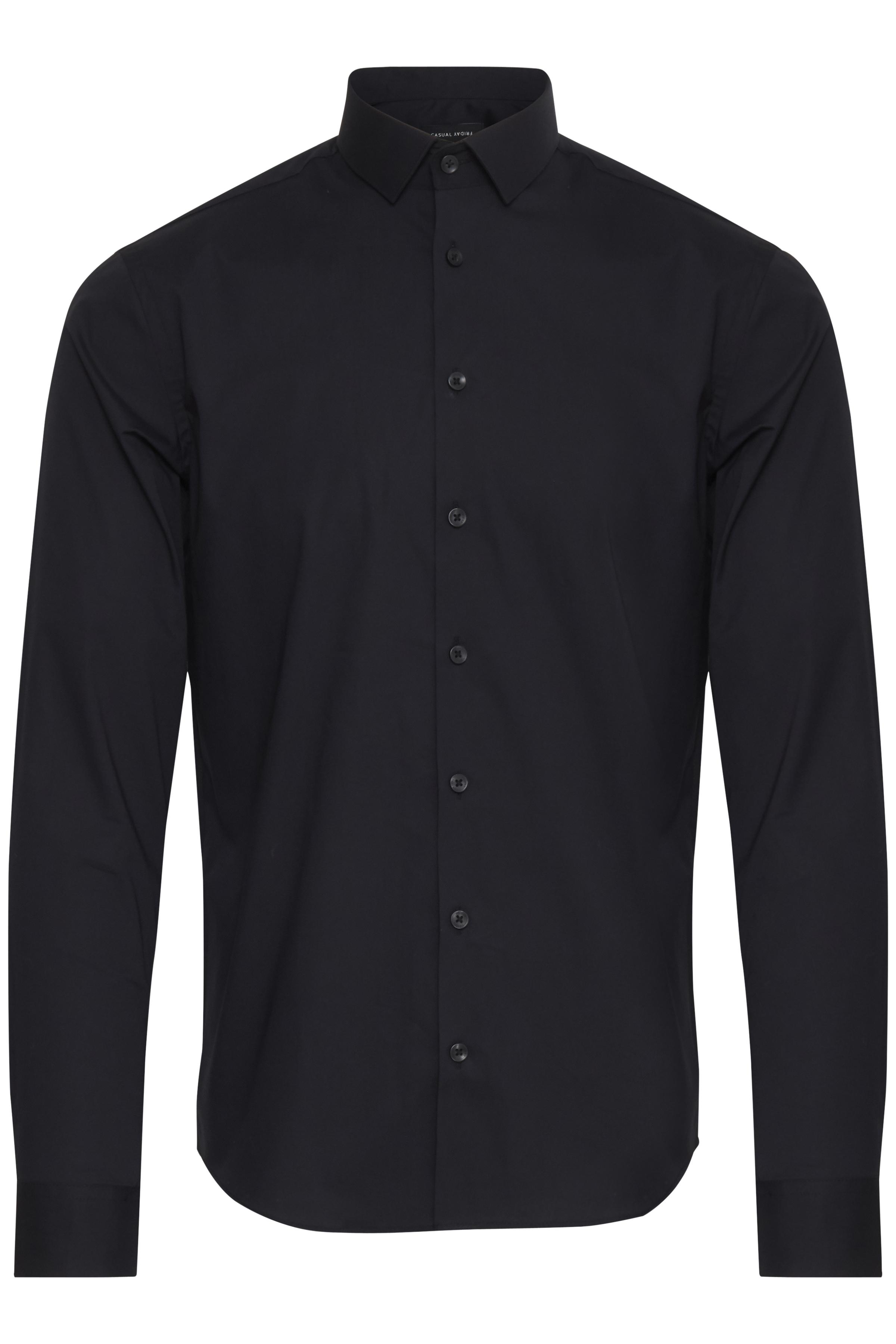 Image of Casual Friday Herre Flot skjorte - Black