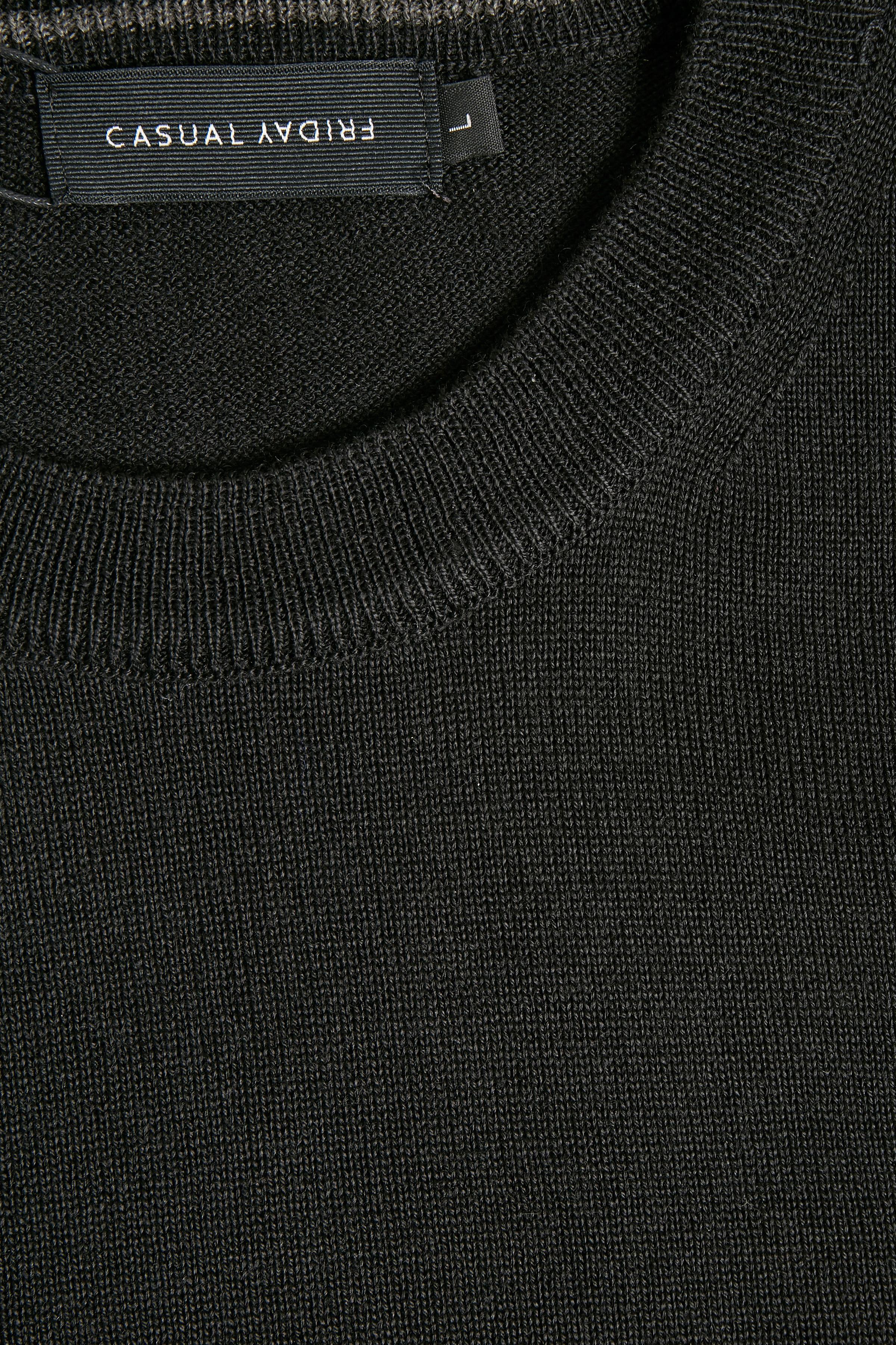 Black Strikpullover fra Casual Friday – Køb Black Strikpullover fra str. S-XXL her