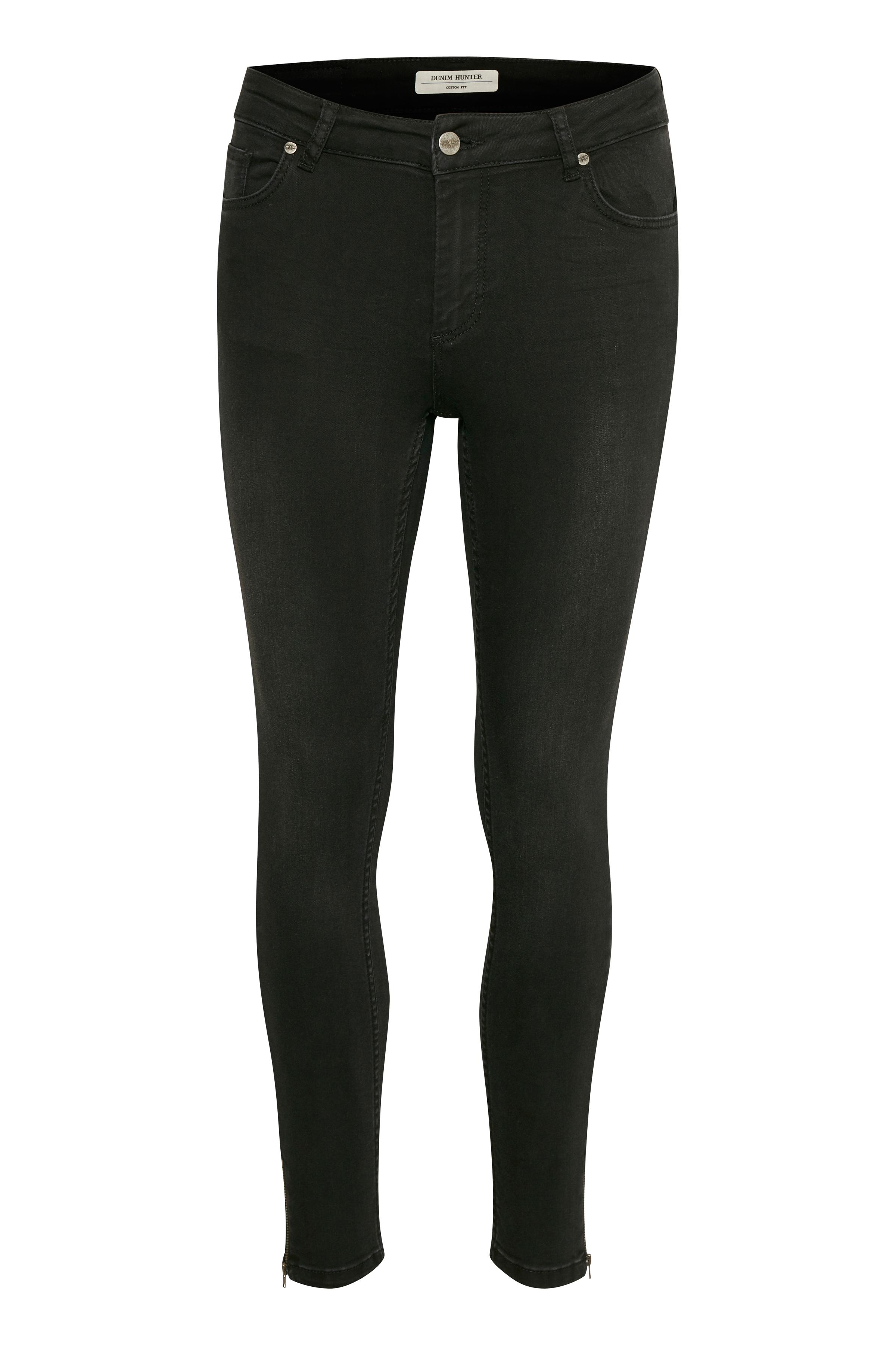 Image of Denim Hunter Dame Normal pasform denim jeans - Black Washed