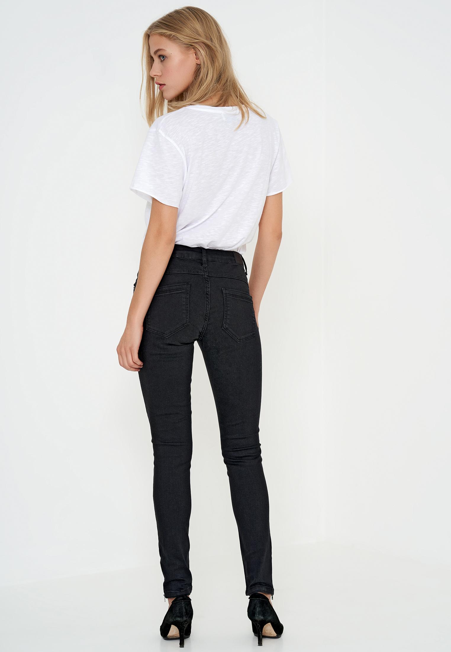 Denim Hunter Dame Normal pasform denim jeans  - Black Washed