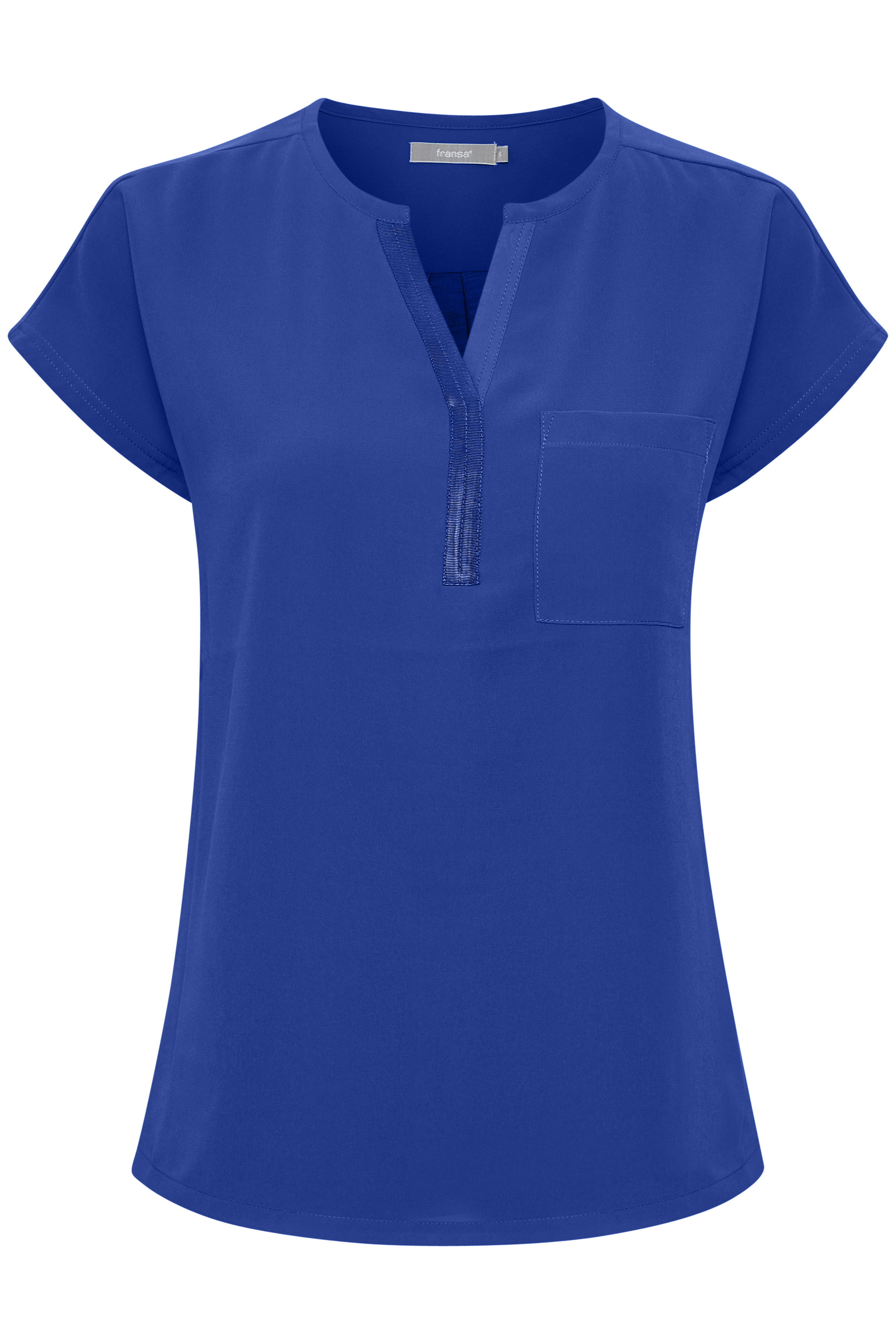 Blau Kurzarm-Bluse von Fransa – Shoppen Sie Blau Kurzarm-Bluse ab Gr. XS-XXL hier