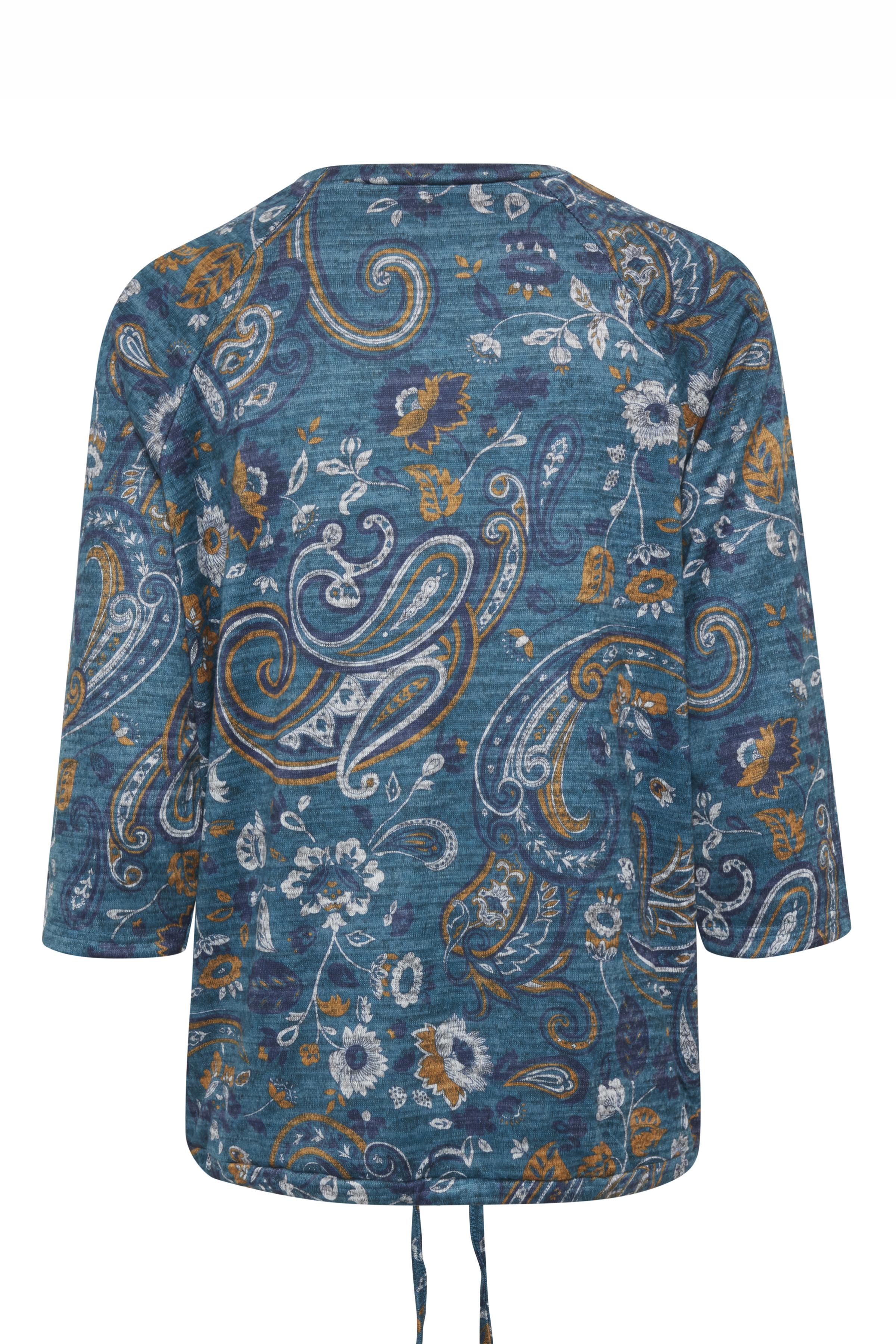 Blau meliert/curry Pullover  von Dranella – Shoppen Sie Blau meliert/curry Pullover  ab Gr. XS-XL hier