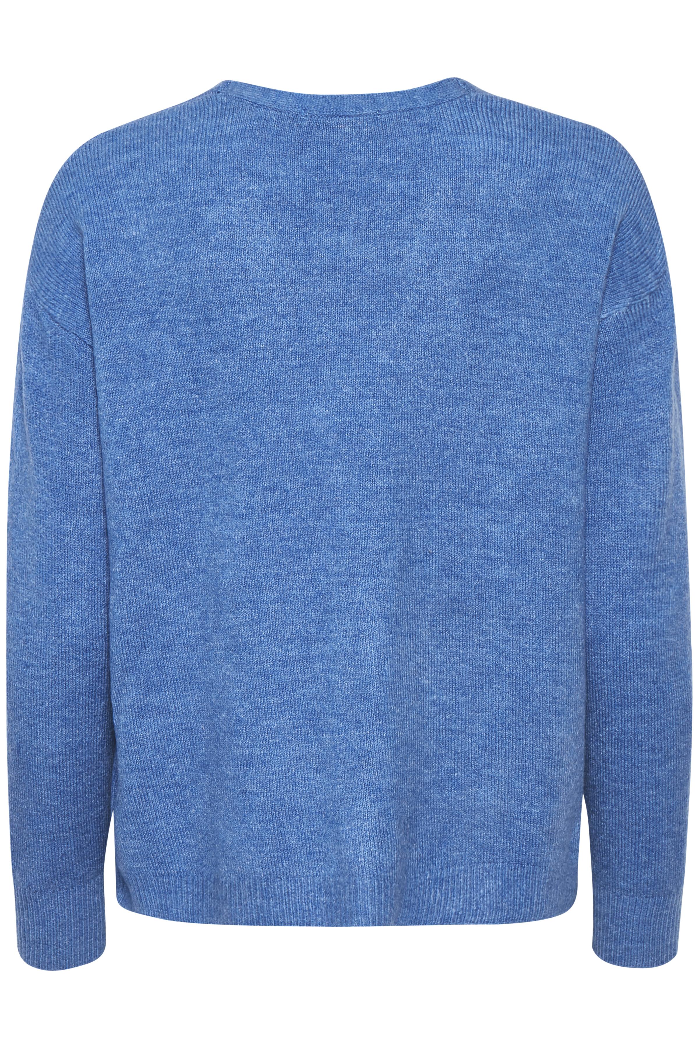 Blau meliert Strick-Cardigan von Dranella – Shoppen Sie Blau meliert Strick-Cardigan ab Gr. XS-XXL hier