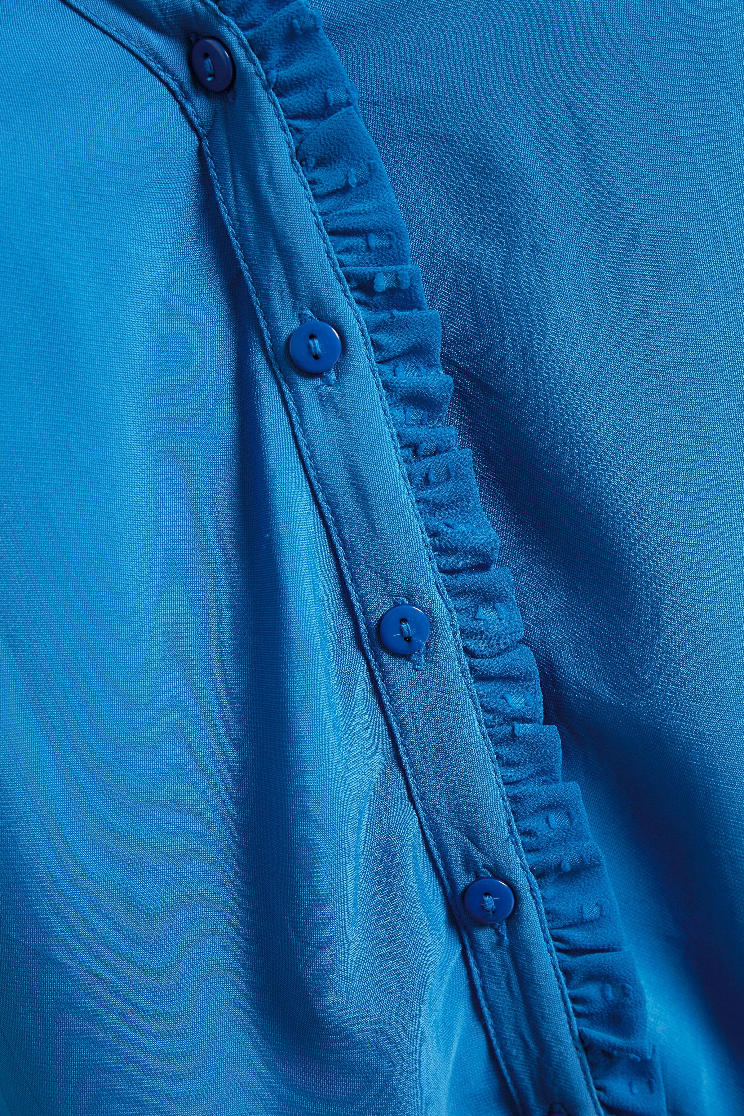 Blauw Blouse lange mouw van Dranella – Door Blauw Blouse lange mouw van maat. 34-46 hier