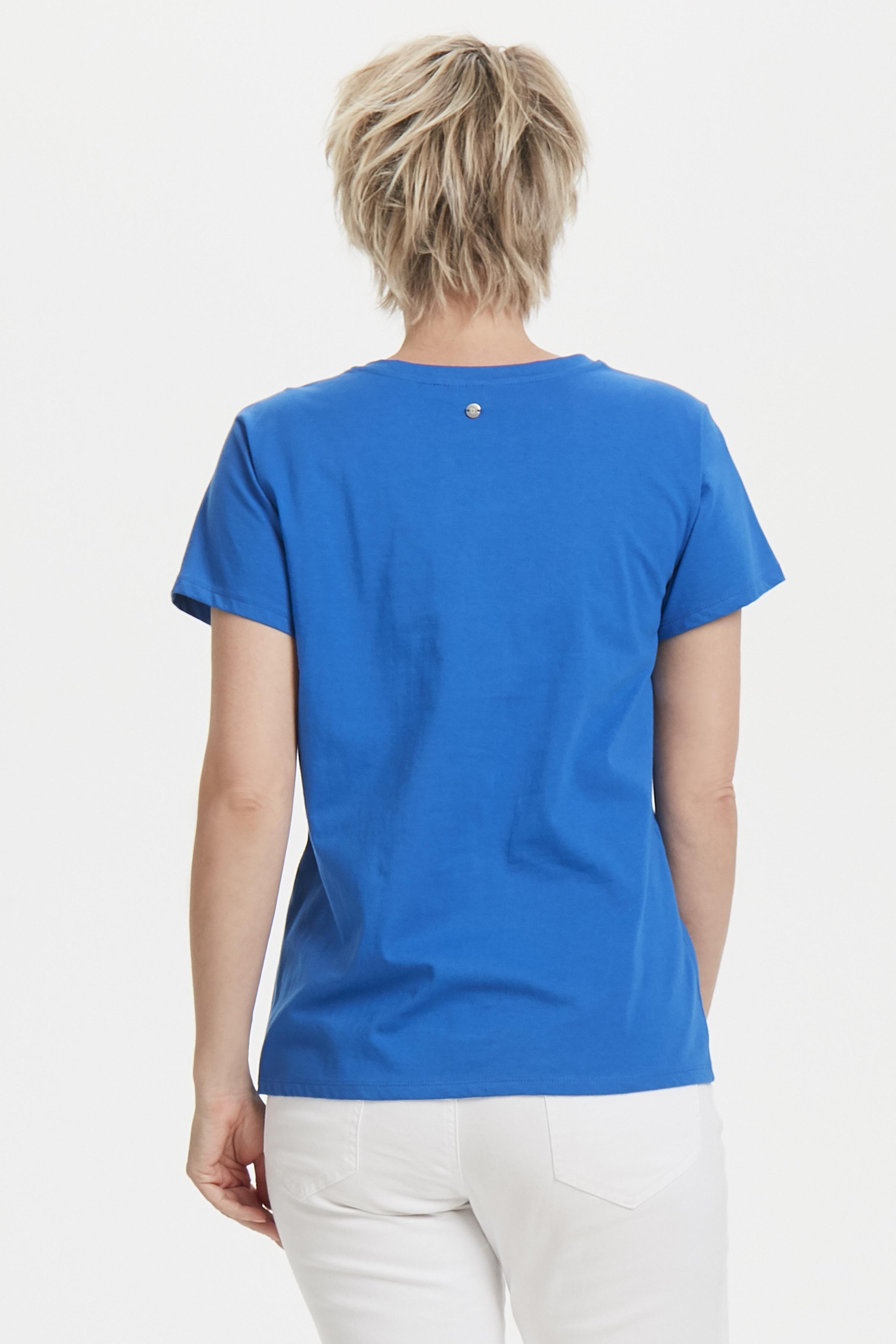 Blauw T-shirt korte mouw van Dranella – Door Blauw T-shirt korte mouw van maat. XS-XXL hier