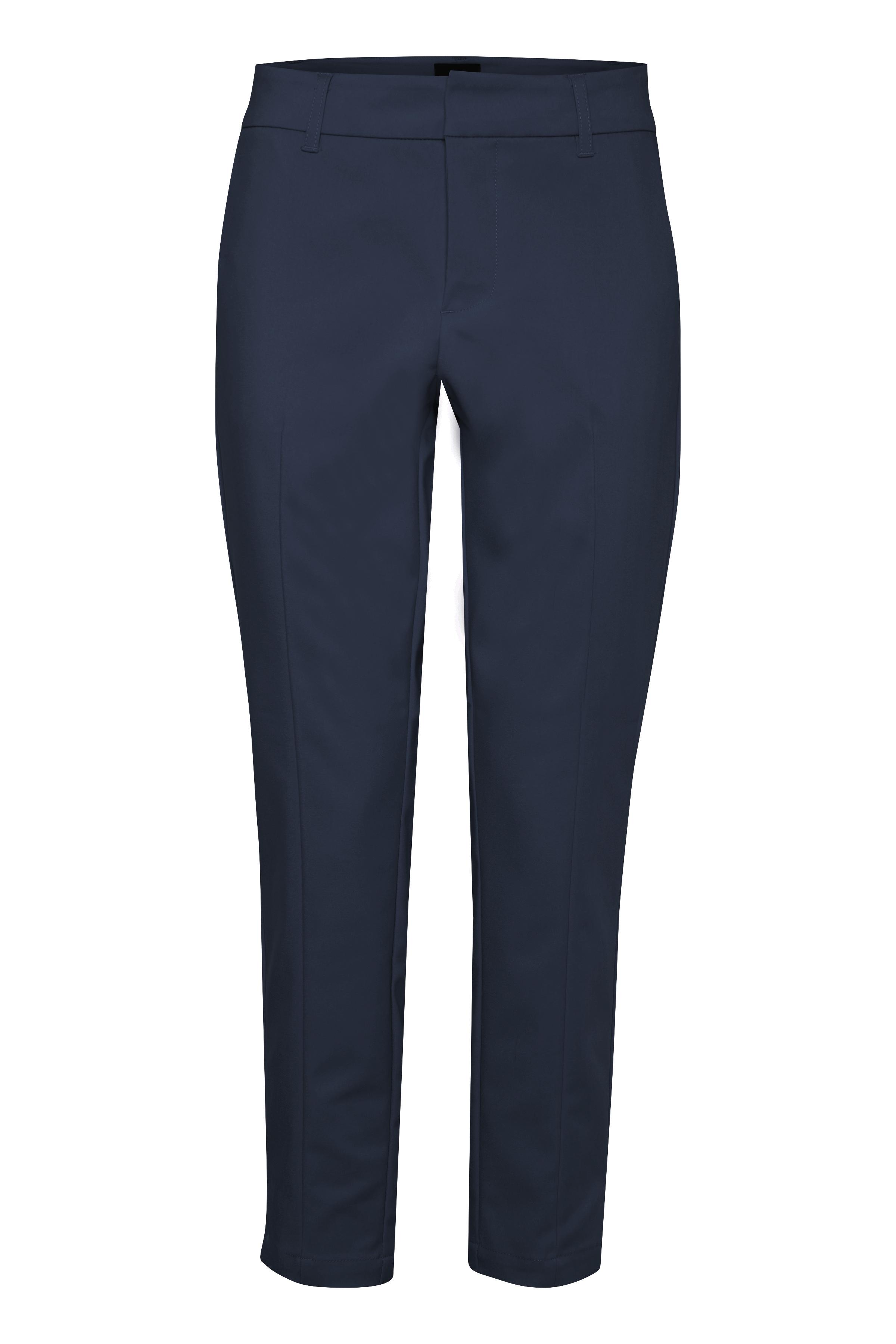 Image of Pulz Jeans Dame Bukser - Blue Marine