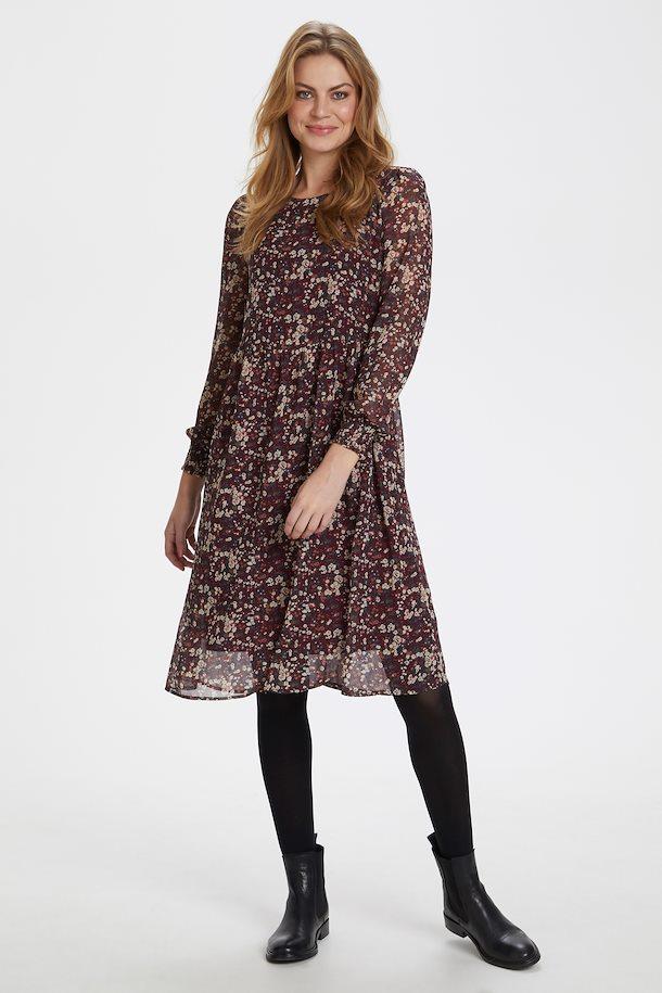 Bordeaux/jadegrün Kleid von Bon'A Parte - Shoppen Sie ...