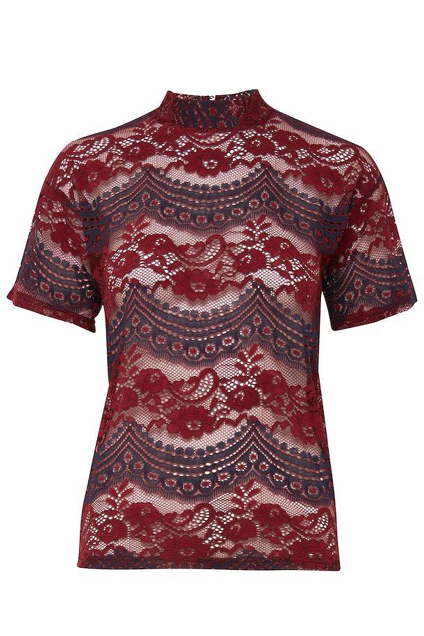 ce1ec4b80af Bordeaux Kortærmet bluse fra b.young – Køb Bordeaux Kortærmet bluse fra  str. XS-XXL her