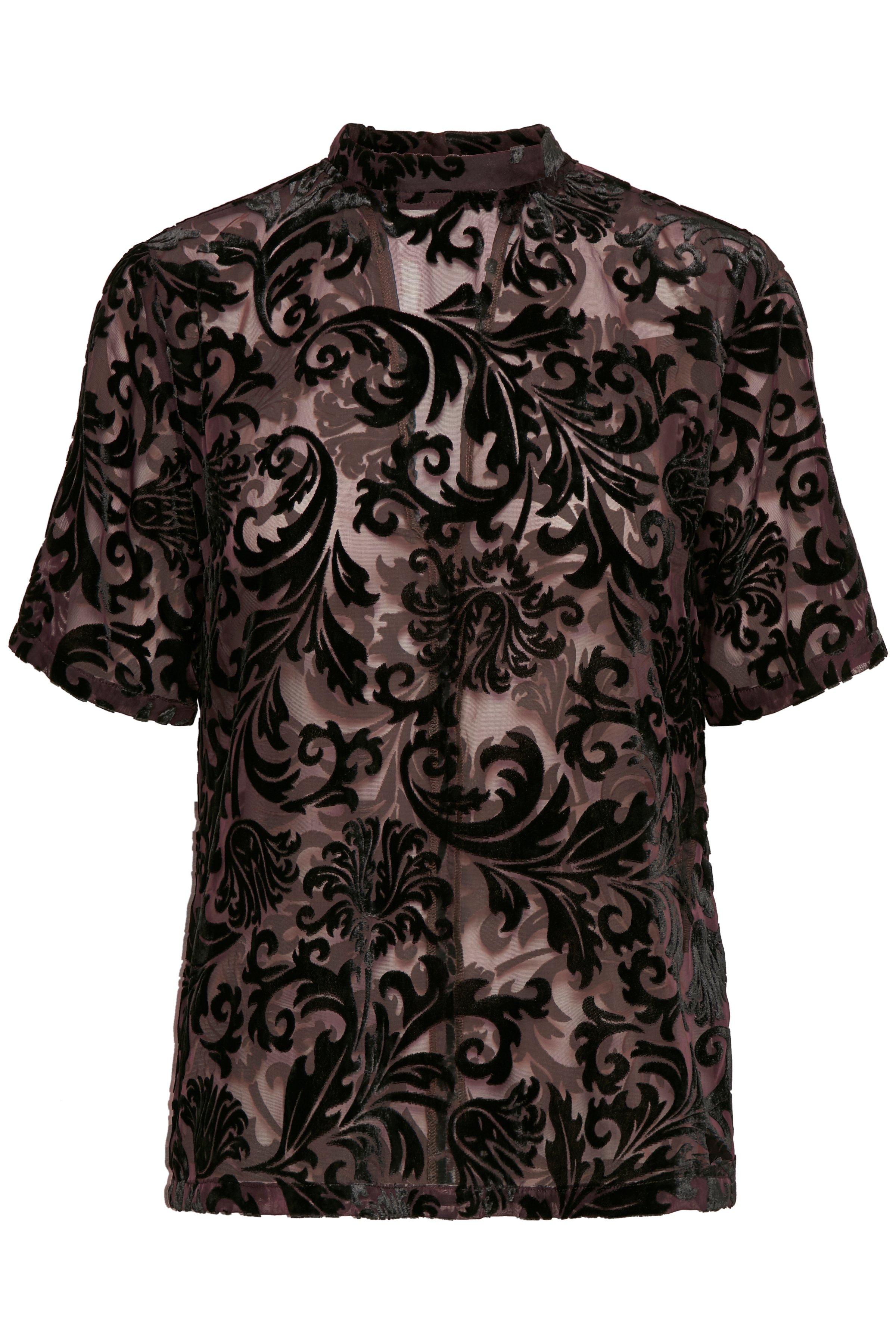 Bordeaux Kortærmet bluse fra b.young – Køb Bordeaux Kortærmet bluse fra str. 34-46 her