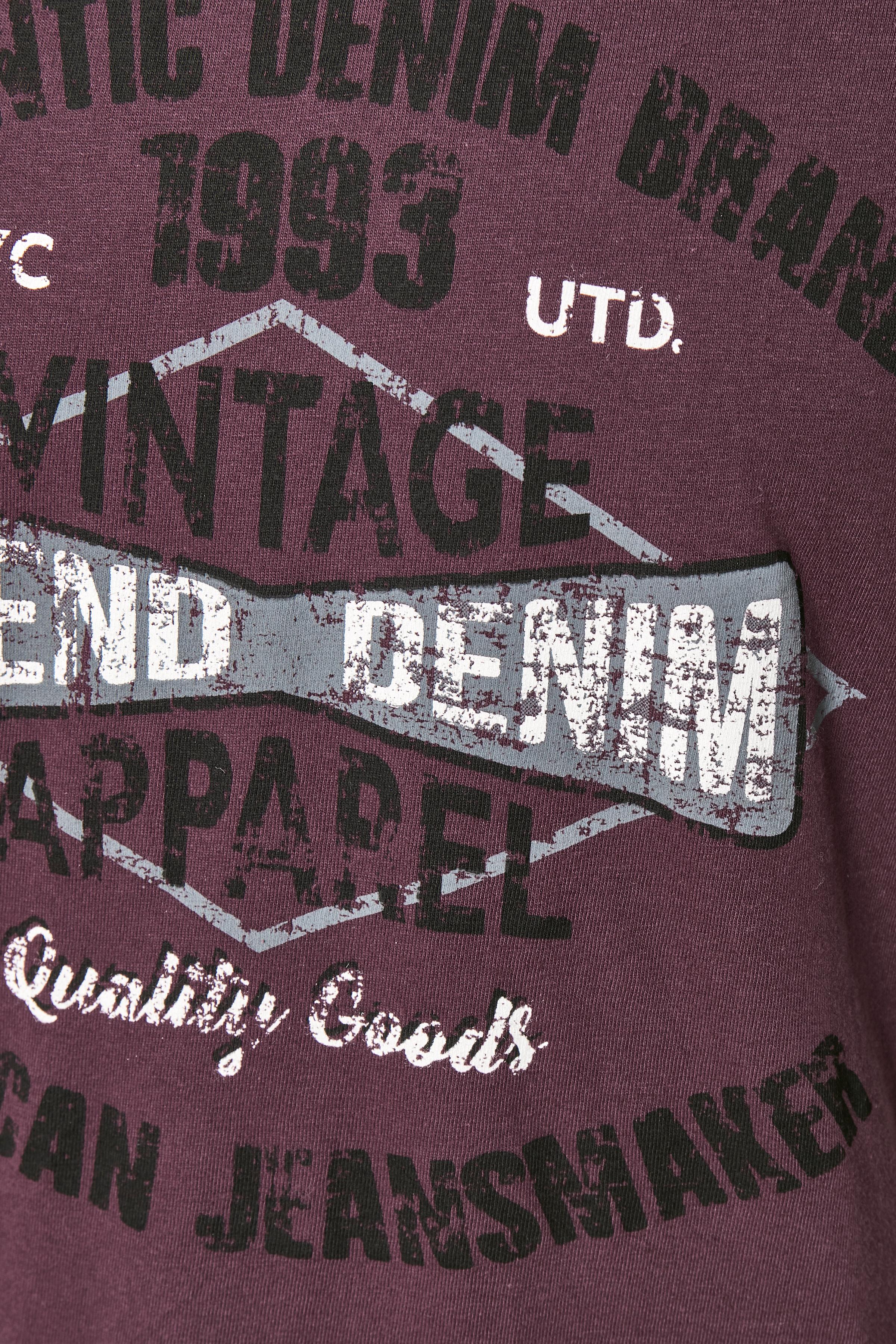 Bordeaux Kortærmet T-shirt fra Blend He – Køb Bordeaux Kortærmet T-shirt fra str. S-3XL her