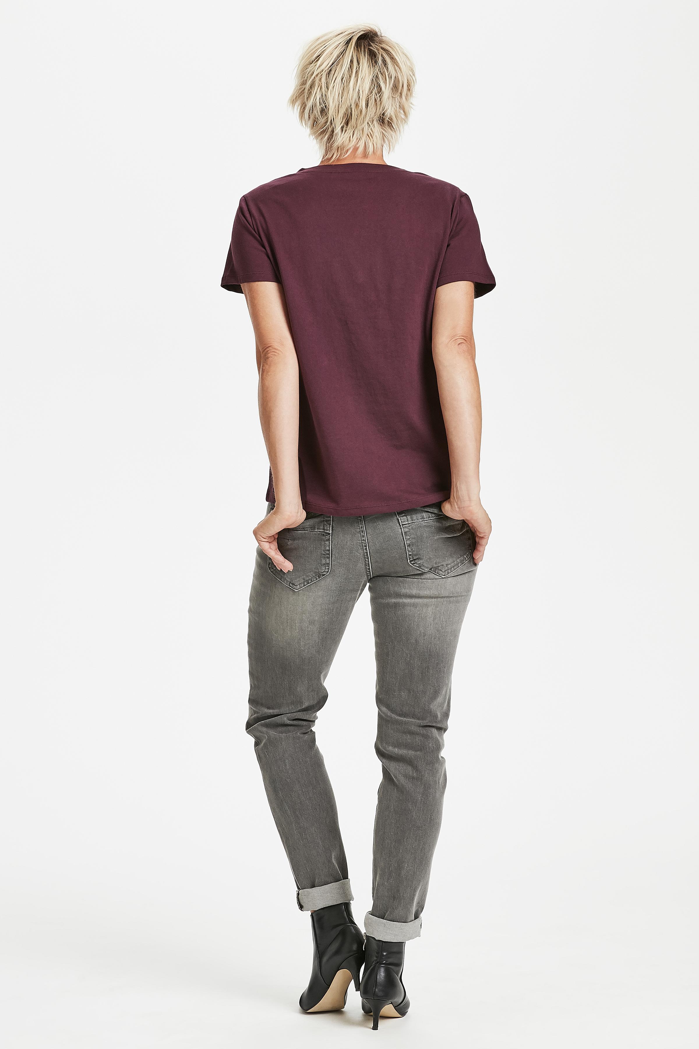 Bordeaux Kurzarm T-Shirt von Dranella – Shoppen Sie Bordeaux Kurzarm T-Shirt ab Gr. XS-XXL hier