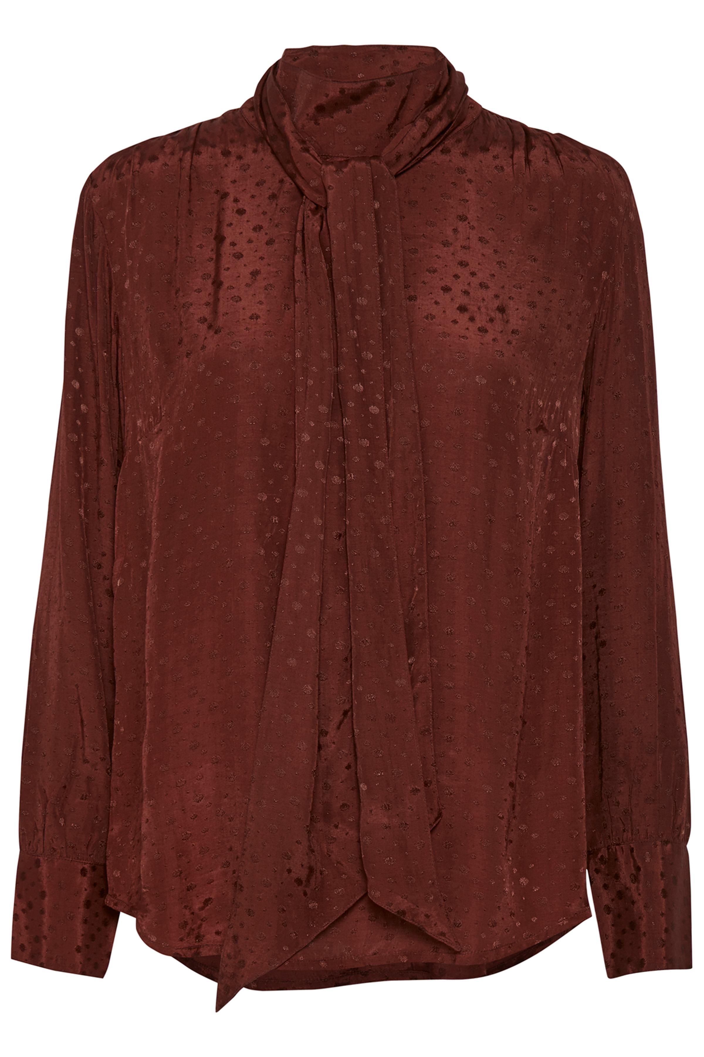 Bordeaux Langærmet bluse fra Bon'A Parte – Køb Bordeaux Langærmet bluse fra str. S-2XL her