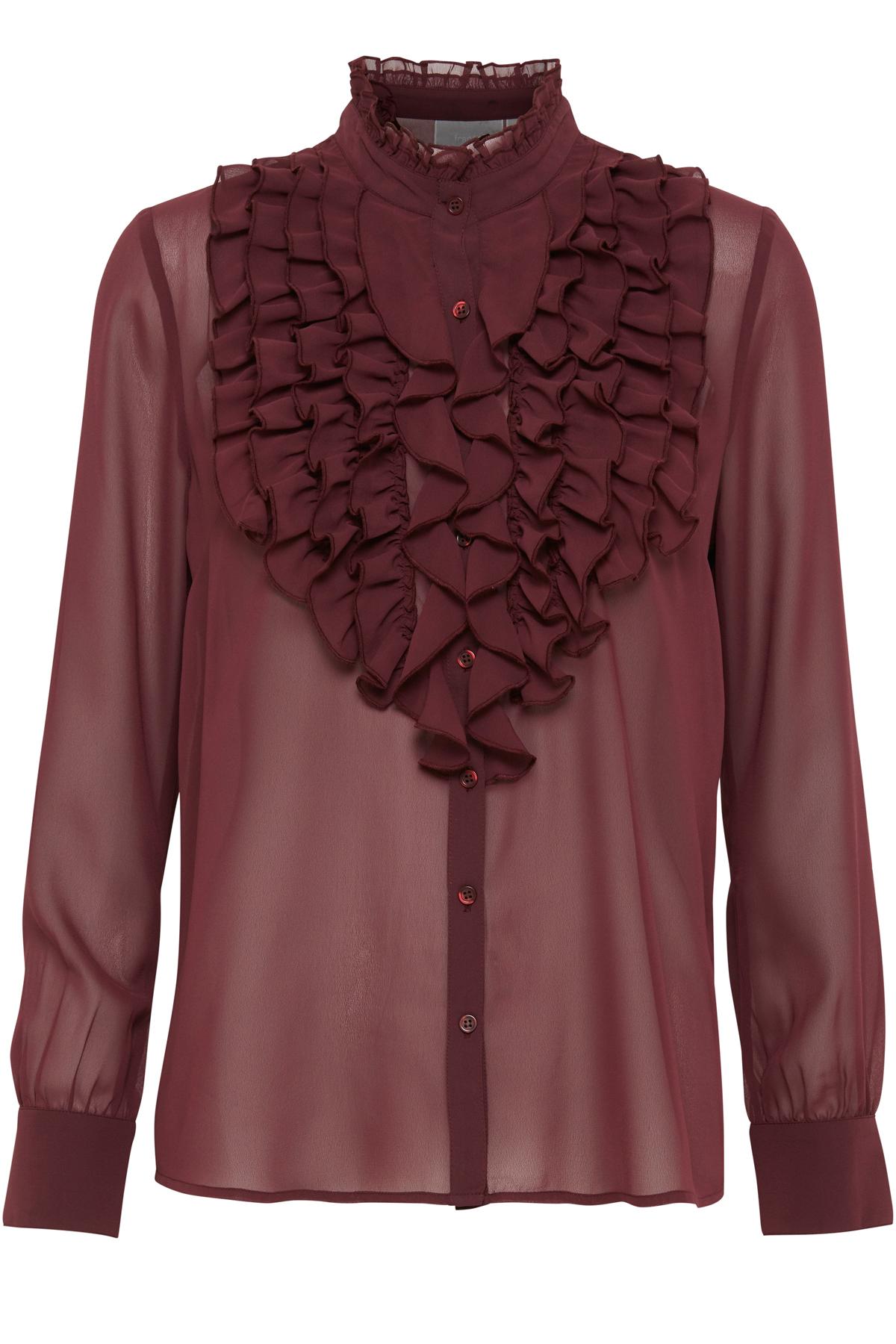 Image of Fransa Dame Langærmet skjorte - Bordeaux
