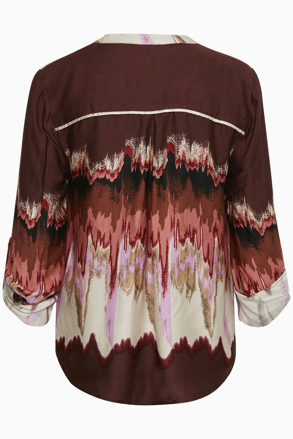Image of Culture Dame Bluse - Bordeaux/off-white