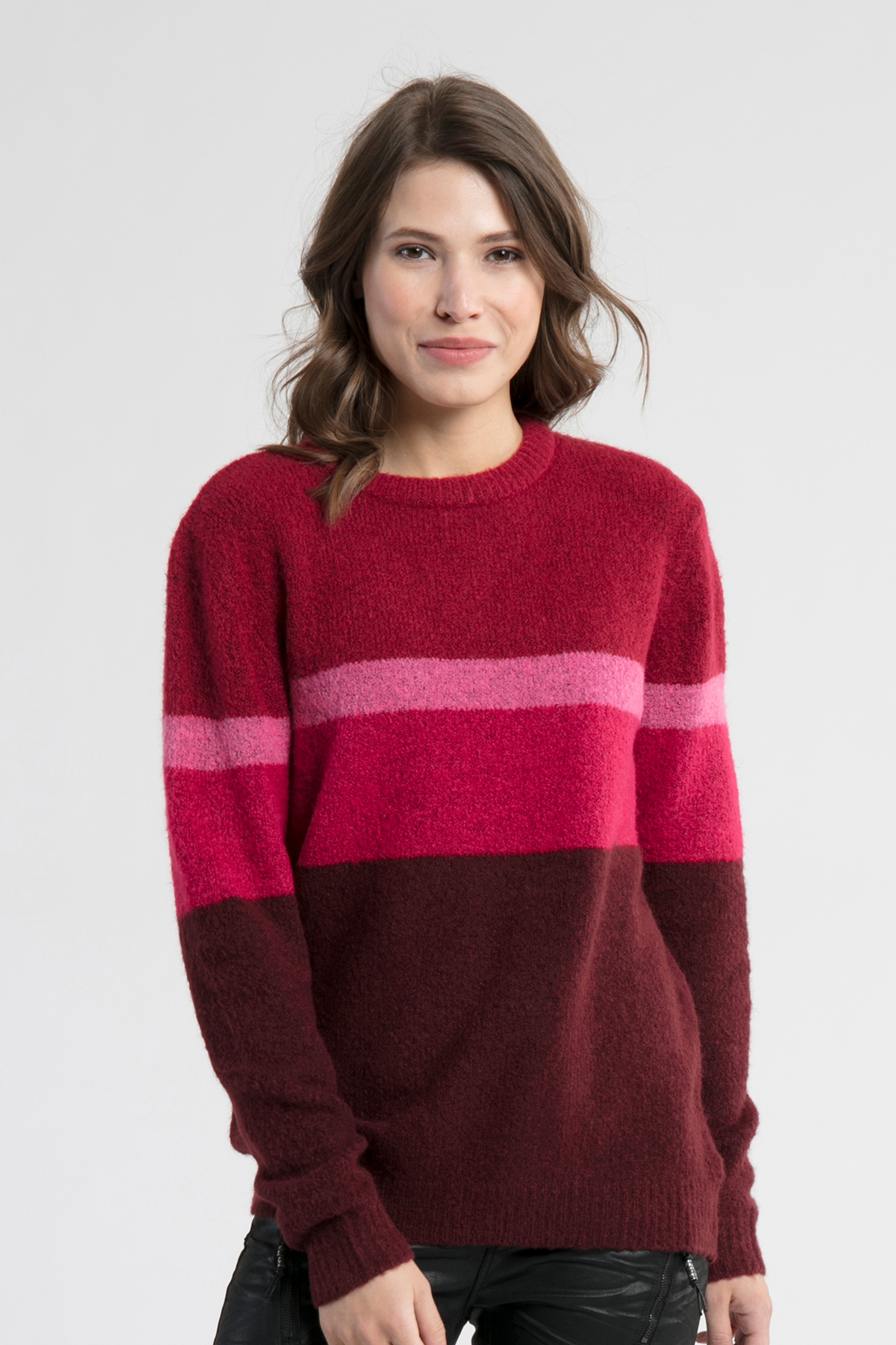 Bordeaux/rot Strickpullover von b.young – Shoppen Sie Bordeaux/rot Strickpullover ab Gr. XS-XXL hier