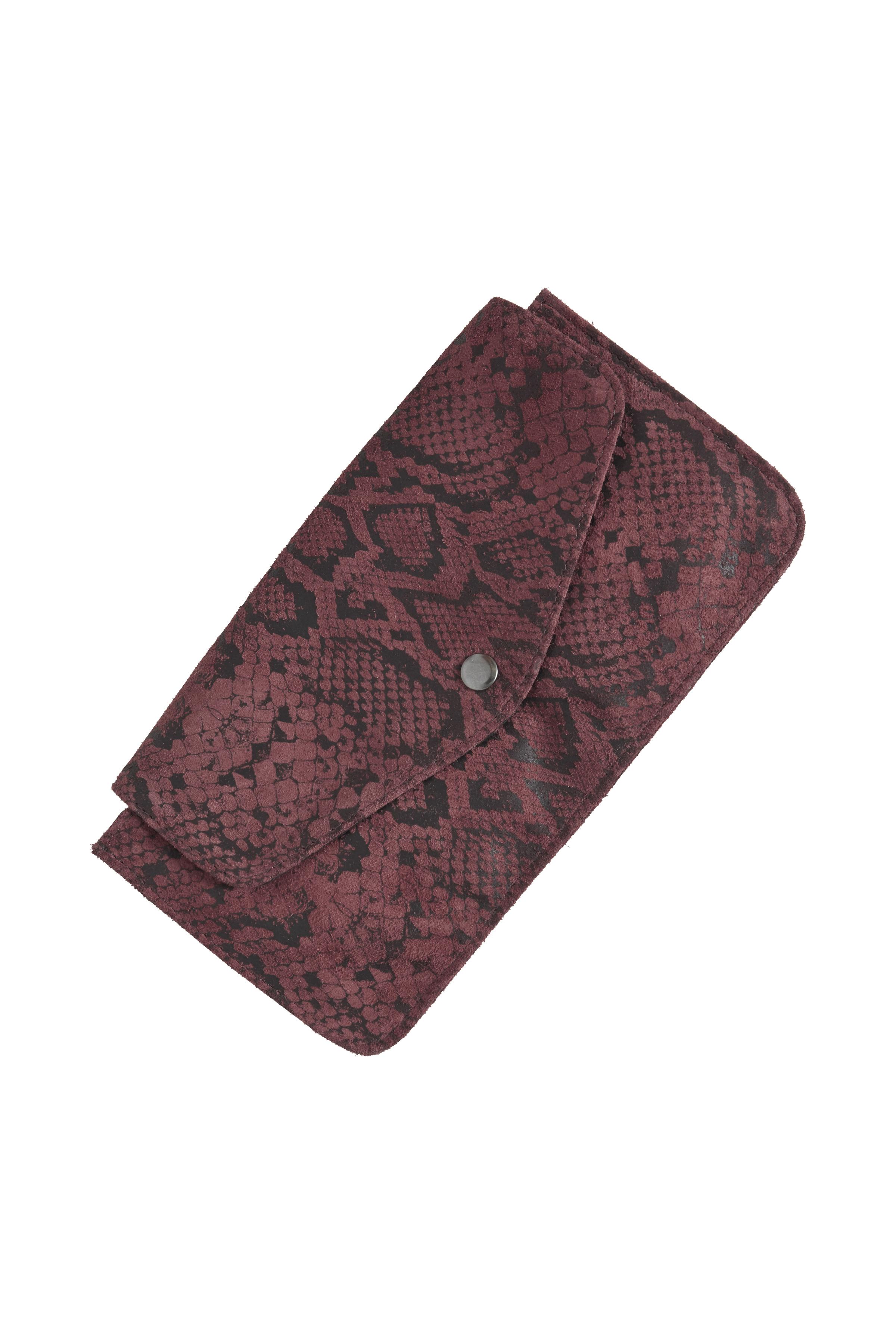 Image of   Ichi - accessories Dame Ruskindstaske - Bordeaux/sort