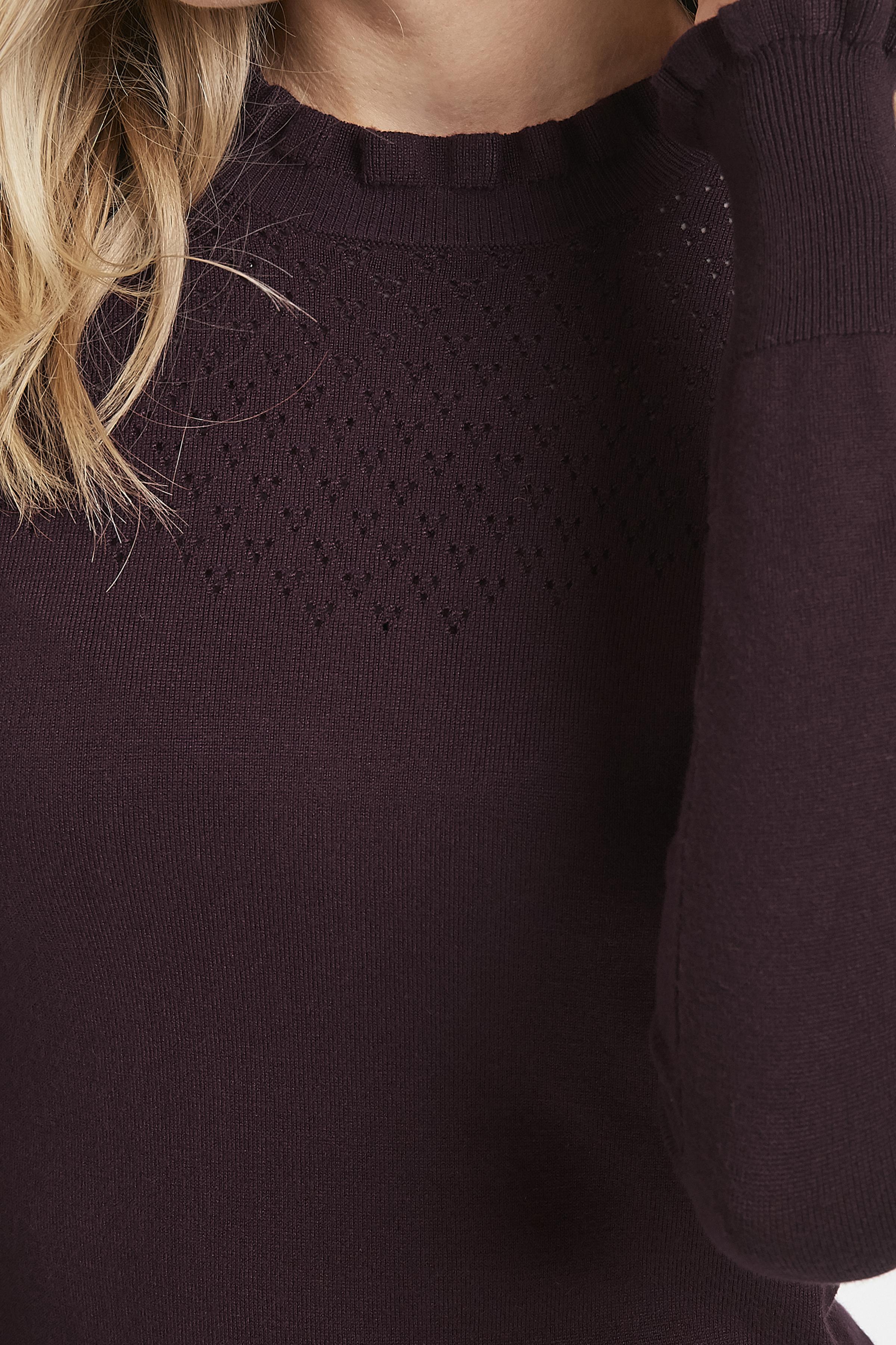 Bordeaux Stickad pullover från Kaffe – Köp Bordeaux Stickad pullover från stl. XS-XXL här