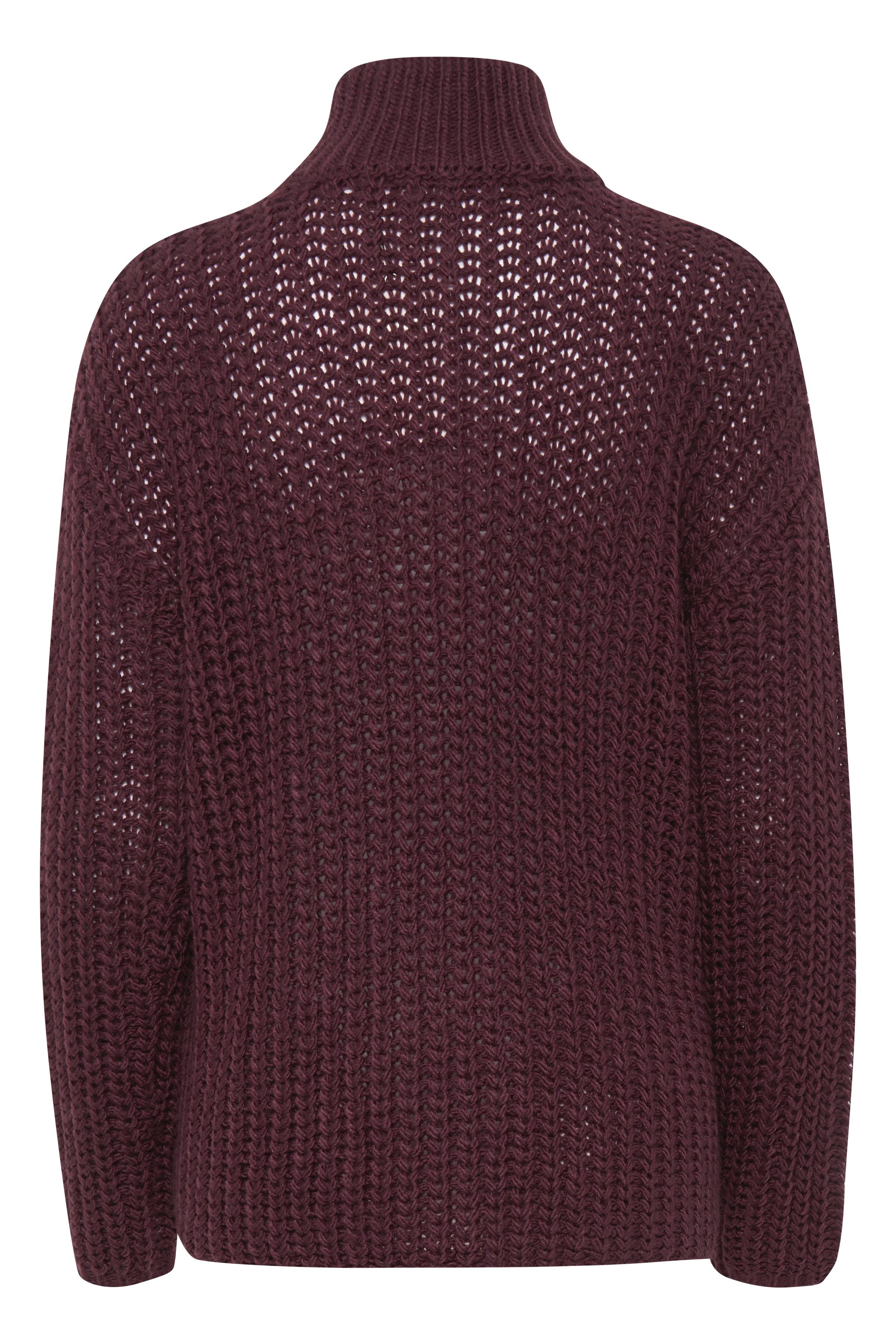 Bordeaux Stickad pullover från Dranella – Köp Bordeaux Stickad pullover från stl. XS-XXL här