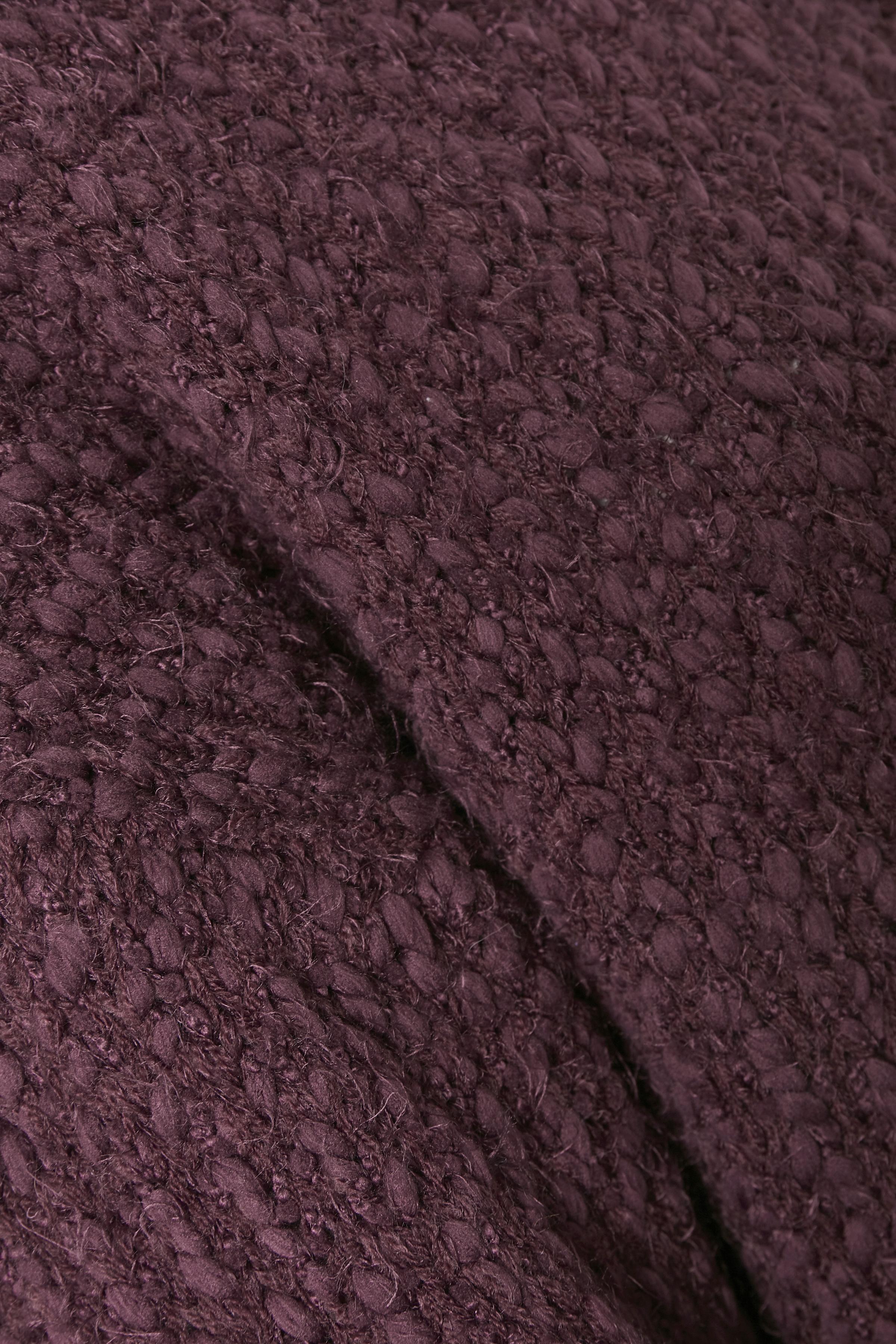 Bordeaux Stickad pullover från Bon'A Parte – Köp Bordeaux Stickad pullover från stl. S-2XL här