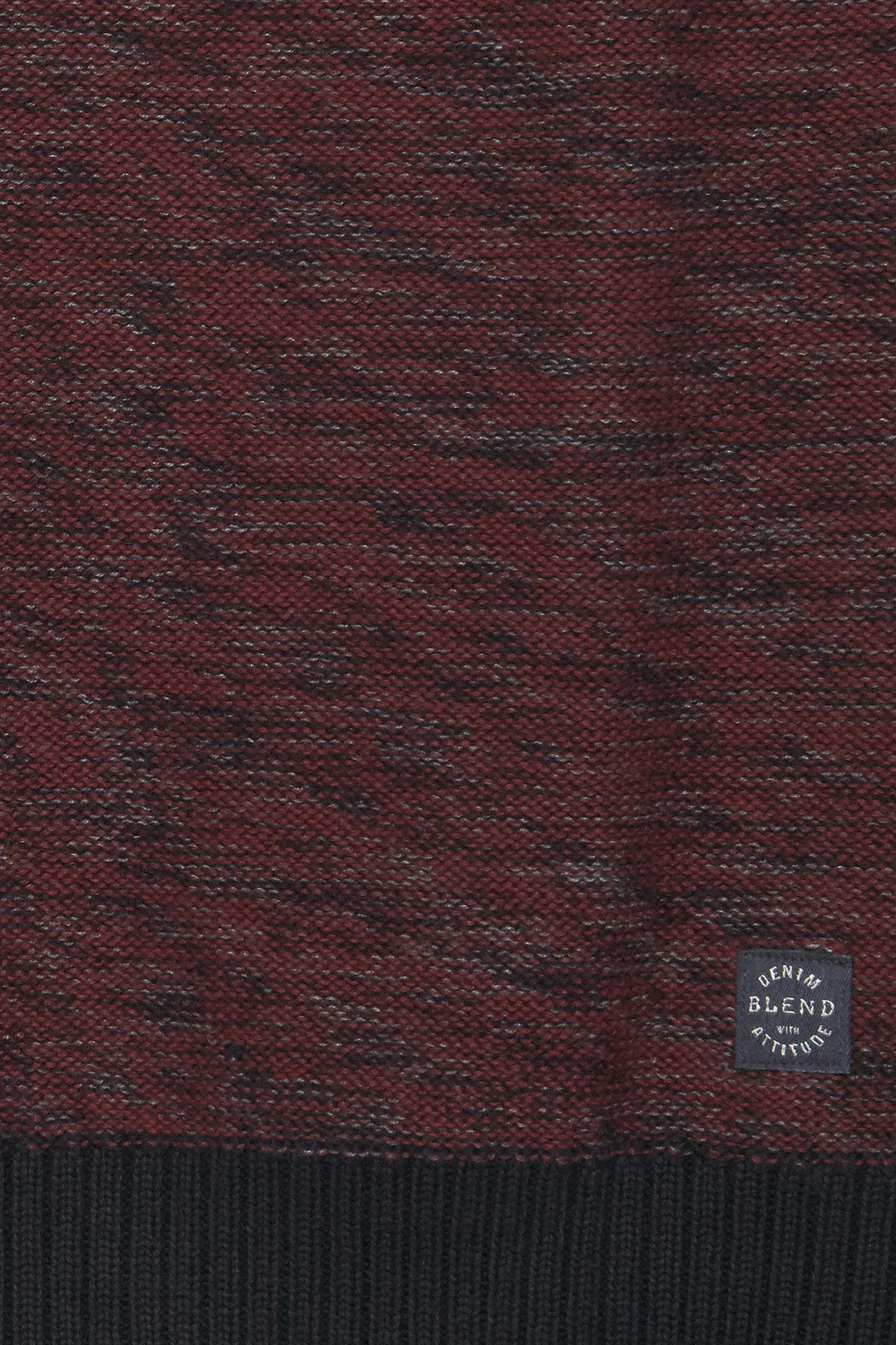 Bordeaux Strikpullover fra Blend He – Køb Bordeaux Strikpullover fra str. S-3XL her