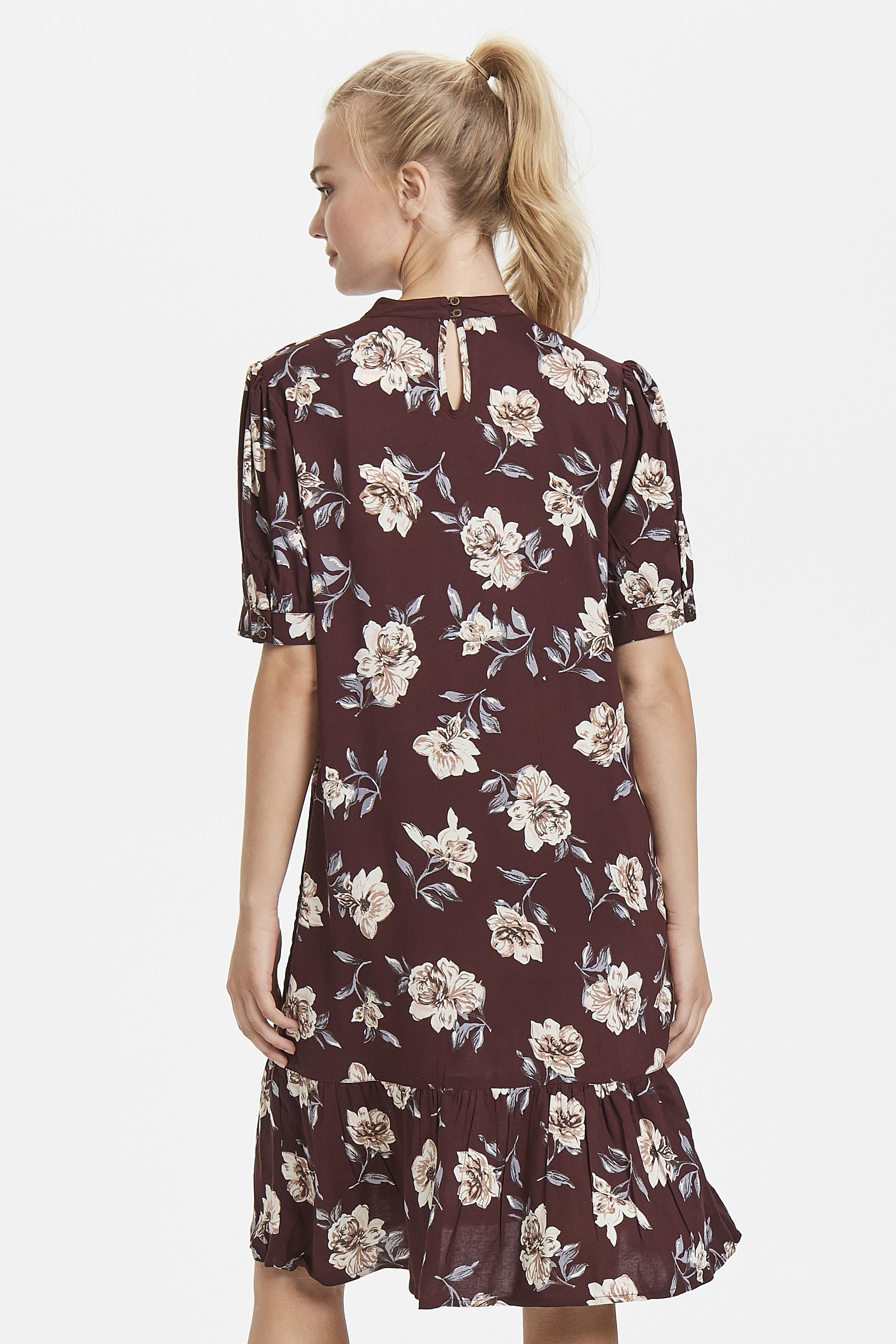 Bordeaux/wollweiß Kleid von Bon'A Parte – Shoppen Sie Bordeaux/wollweiß Kleid ab Gr. S-2XL hier