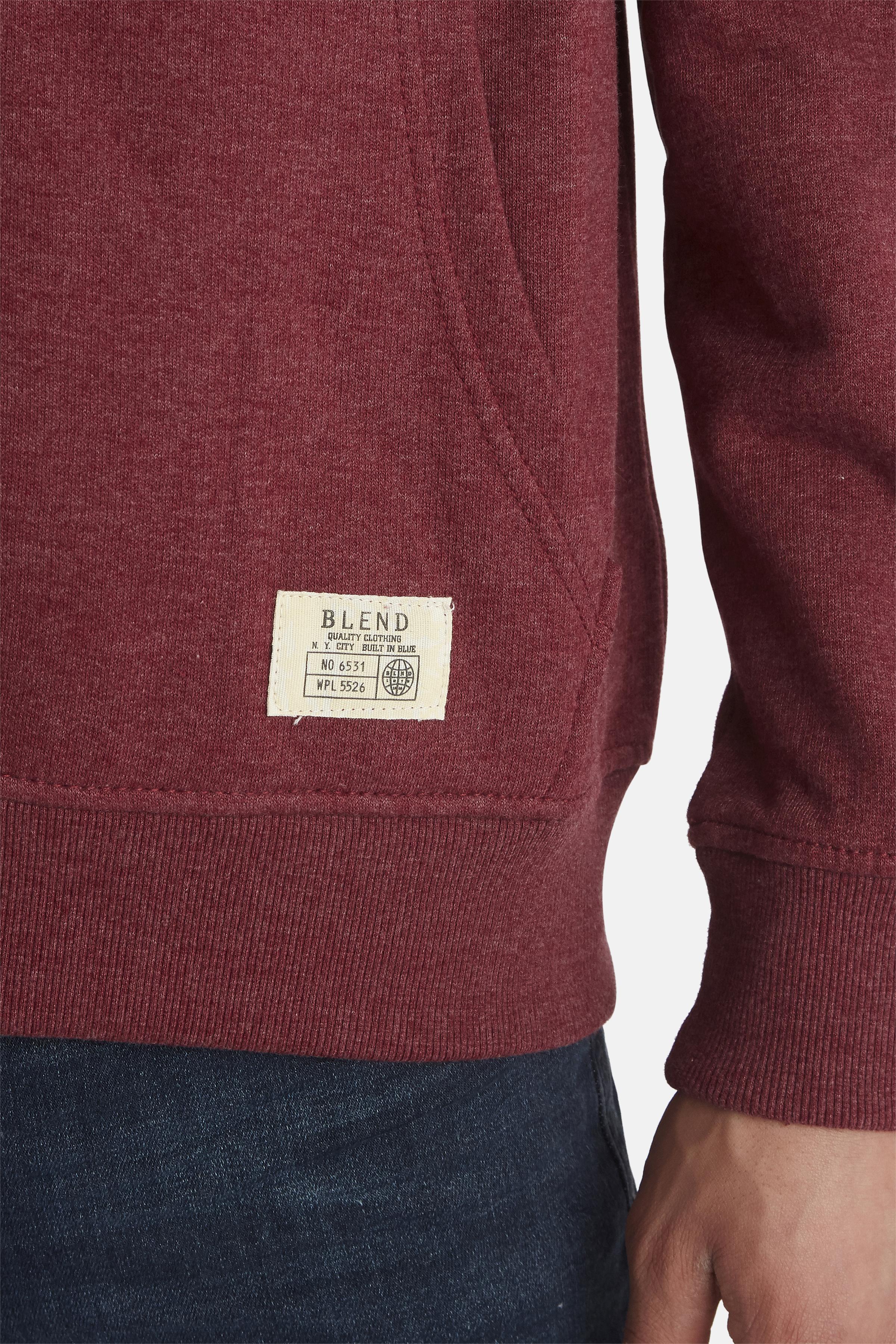 Bordeauxmeleret Sweatshirt fra Blend He – Køb Bordeauxmeleret Sweatshirt fra str. S-3XL her