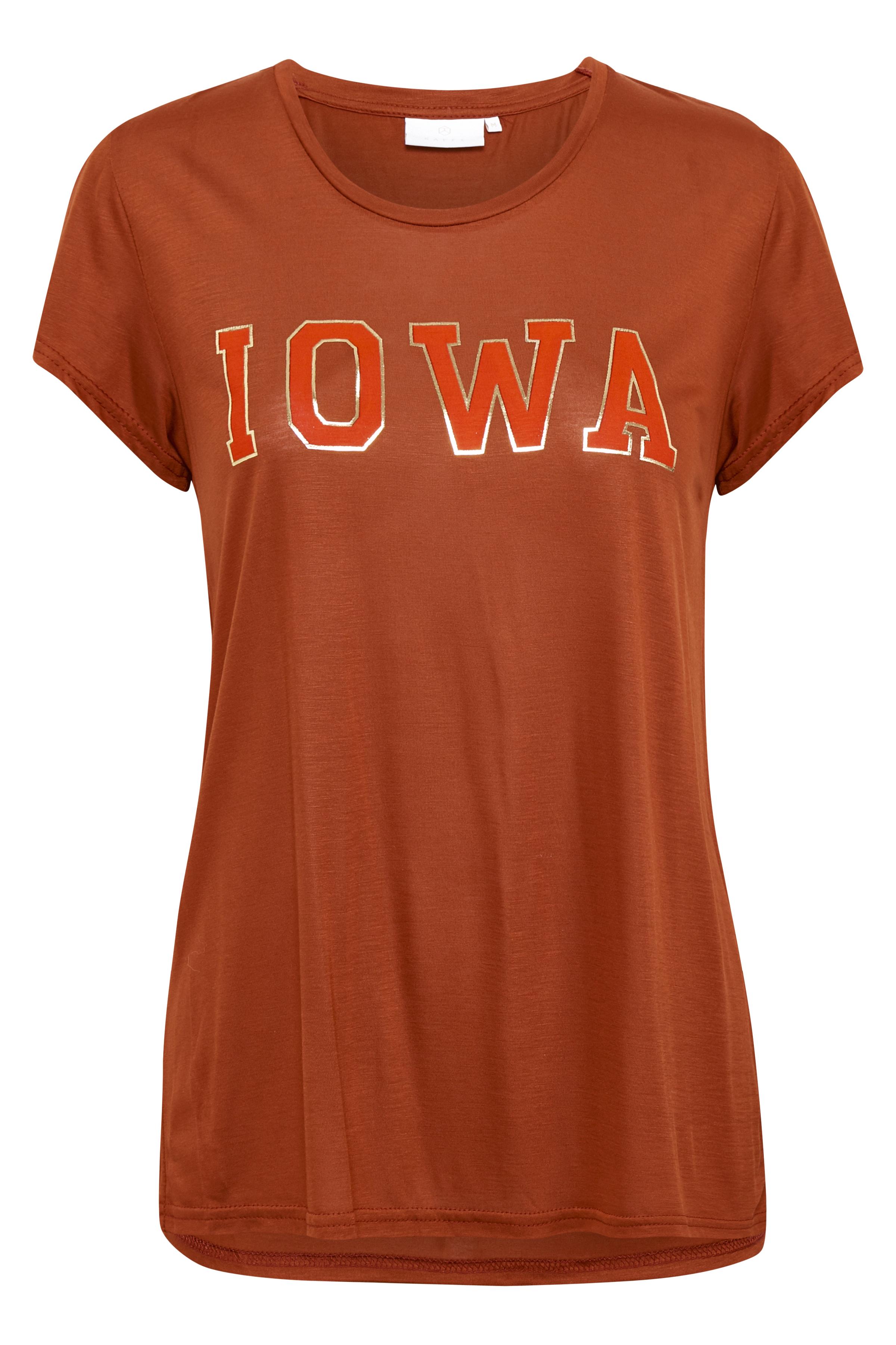 Brændt orange Kortærmet T-shirt fra Kaffe – Køb Brændt orange Kortærmet T-shirt fra str. XS-XXL her