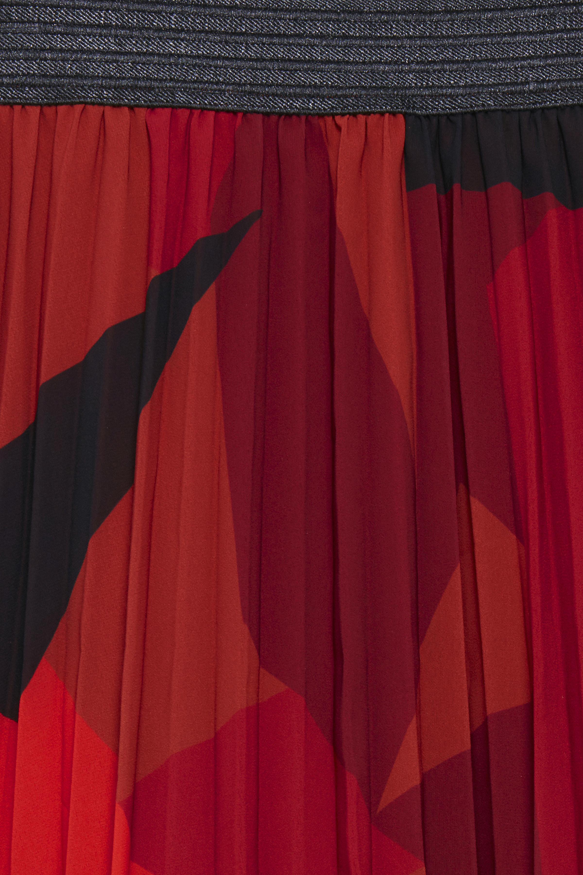 Brændt orange/sort Nederdel fra Fransa – Køb Brændt orange/sort Nederdel fra str. XS-XXL her