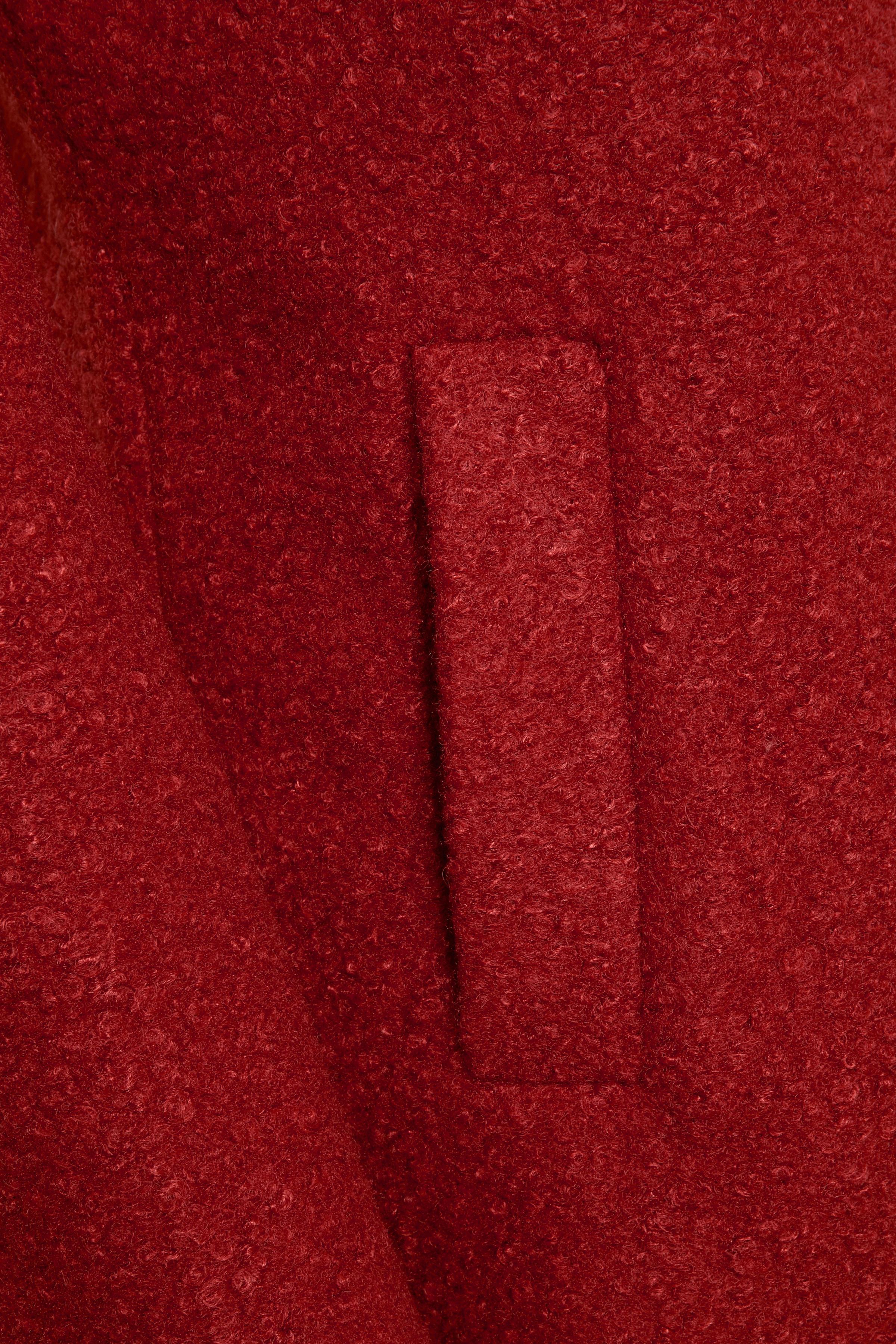 Brændt rød Frakke fra Kaffe – Køb Brændt rød Frakke fra str. 34-46 her