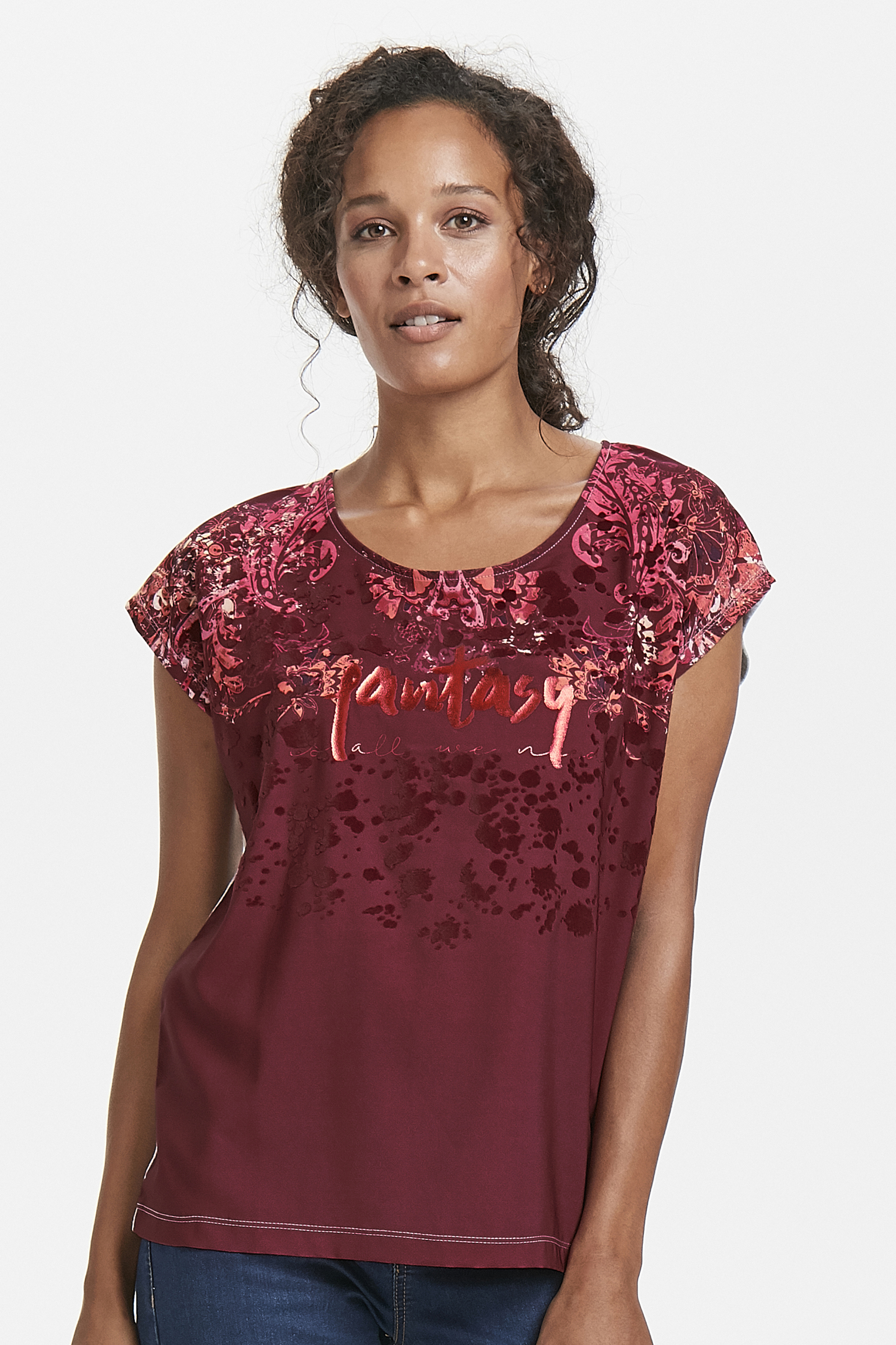 Brændt rød Kortærmet T-shirt fra Cream – Køb Brændt rød Kortærmet T-shirt fra str. XS-XXL her