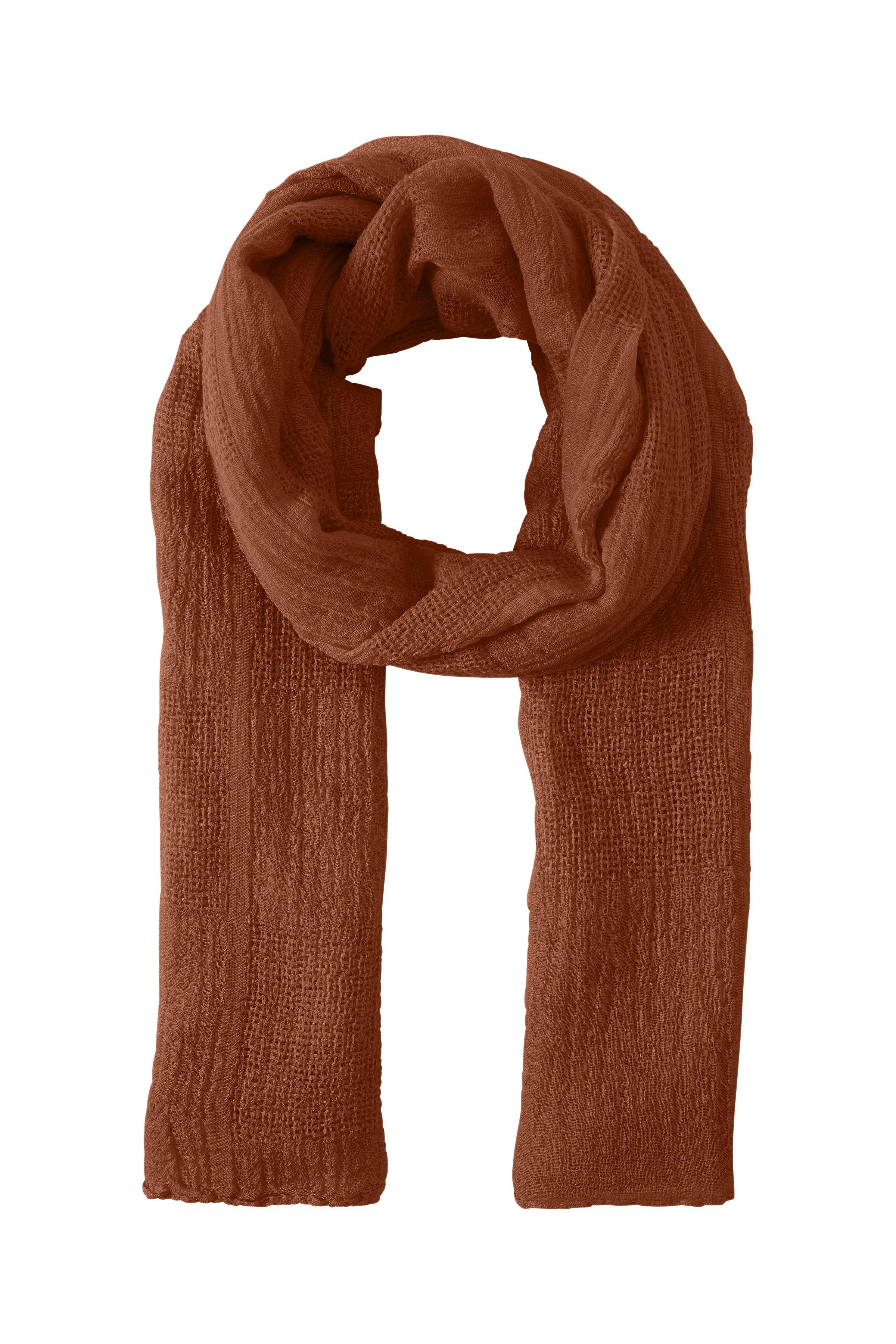 Image of   Ichi - accessories Dame Tørklæde - Brændt rød