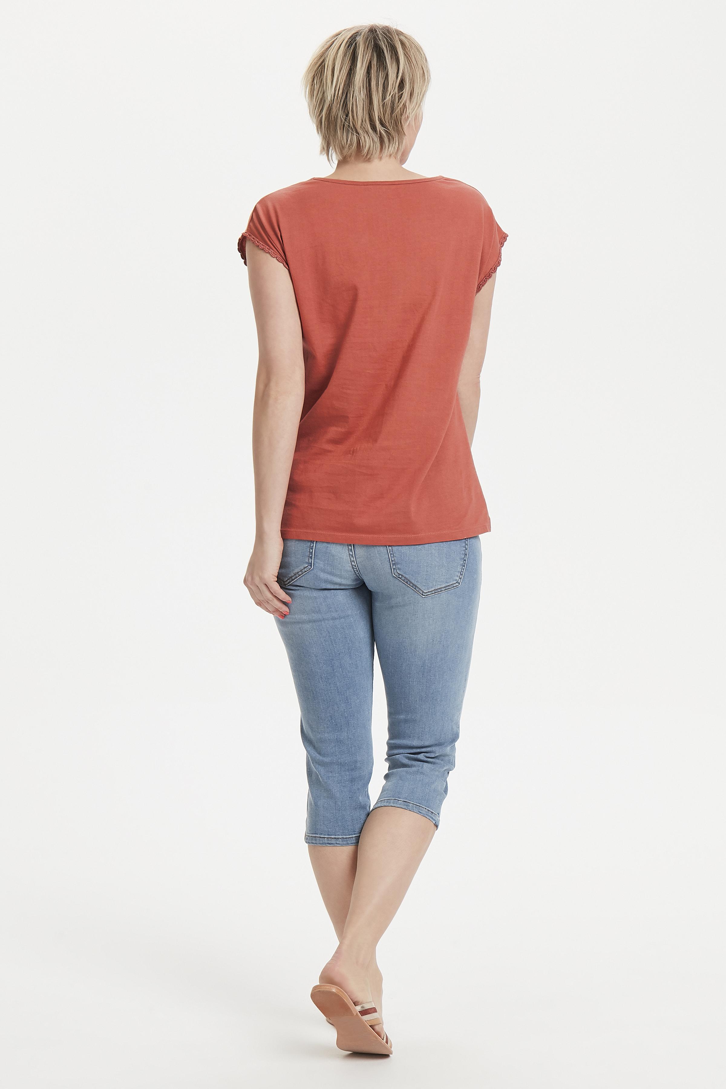 Bränd röd Kortärmad T-shirt från Bon'A Parte – Köp Bränd röd Kortärmad T-shirt från stl. S-2XL här