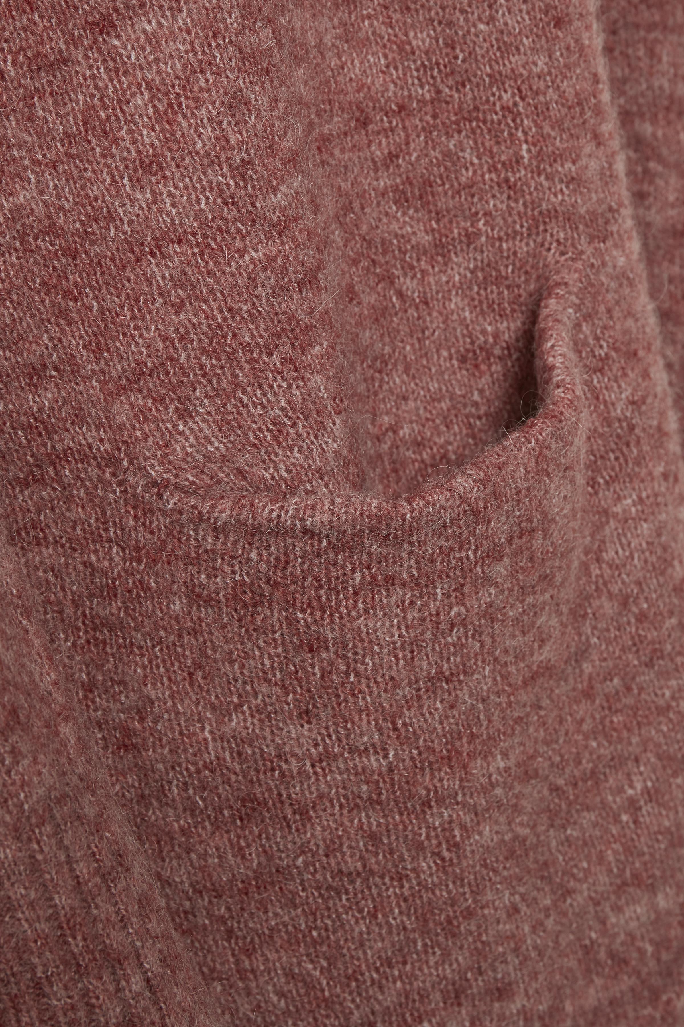 Bränd rödmelerad Stickad cardigan från Bon'A Parte – Köp Bränd rödmelerad Stickad cardigan från stl. S-2XL här