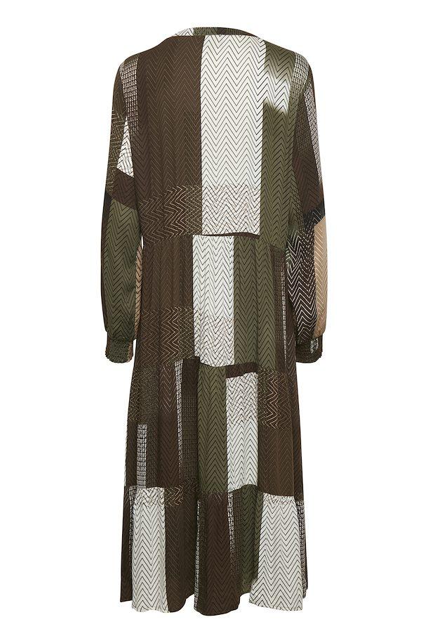 Braun/olivgrün Kleid von Culture - Shoppen SieBraun ...