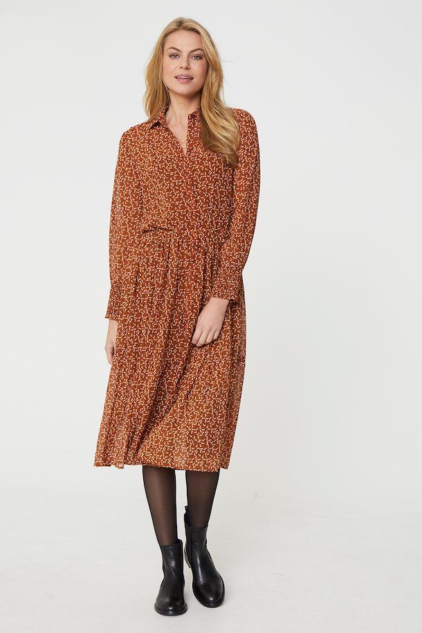 Braun/weiß Kleid von Fransa - Shoppen Sie Braun/weiß Kleid ...
