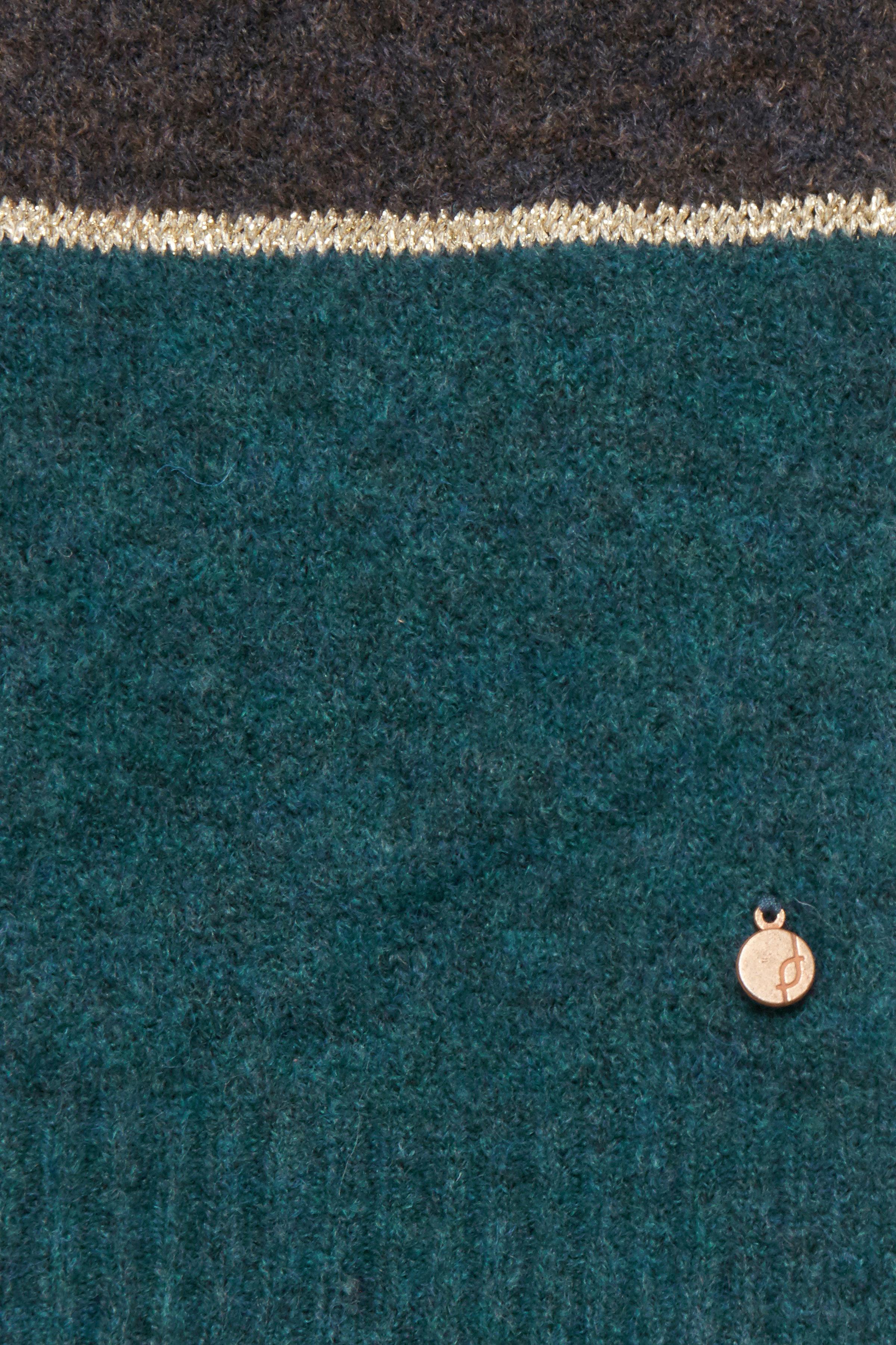 Brun/petroleum Stickad cardigan från Fransa – Köp Brun/petroleum Stickad cardigan från stl. XS-XXL här