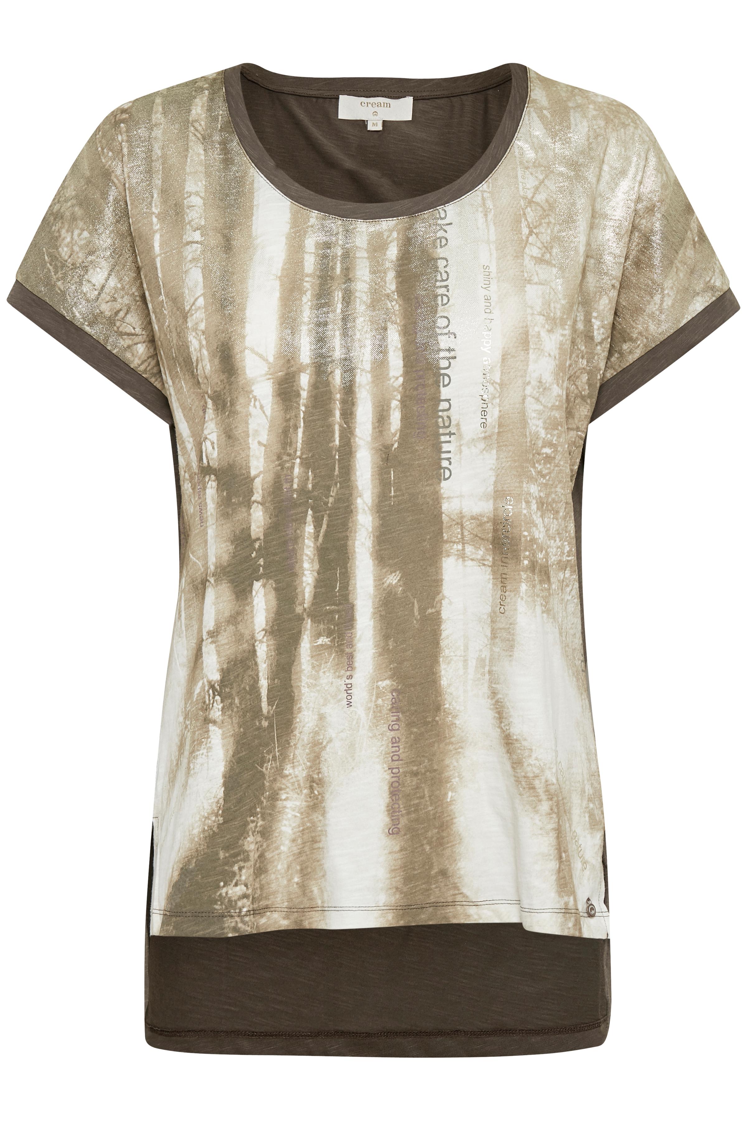 Image of Cream Dame T-shirt - Brun/sand