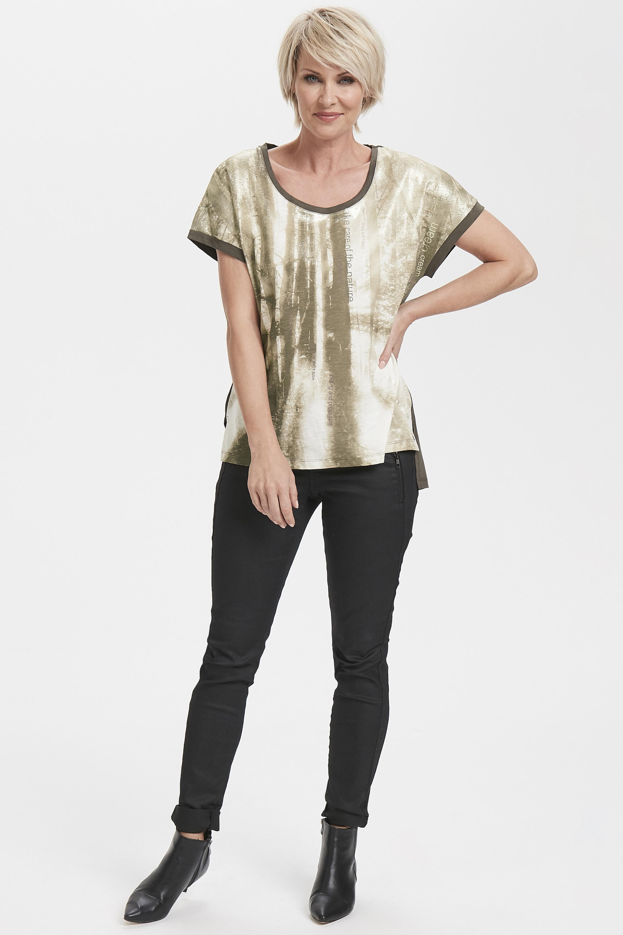 Brun/sand Kortärmad T-shirt från Cream – Köp Brun/sand Kortärmad T-shirt från stl. XS-XXL här